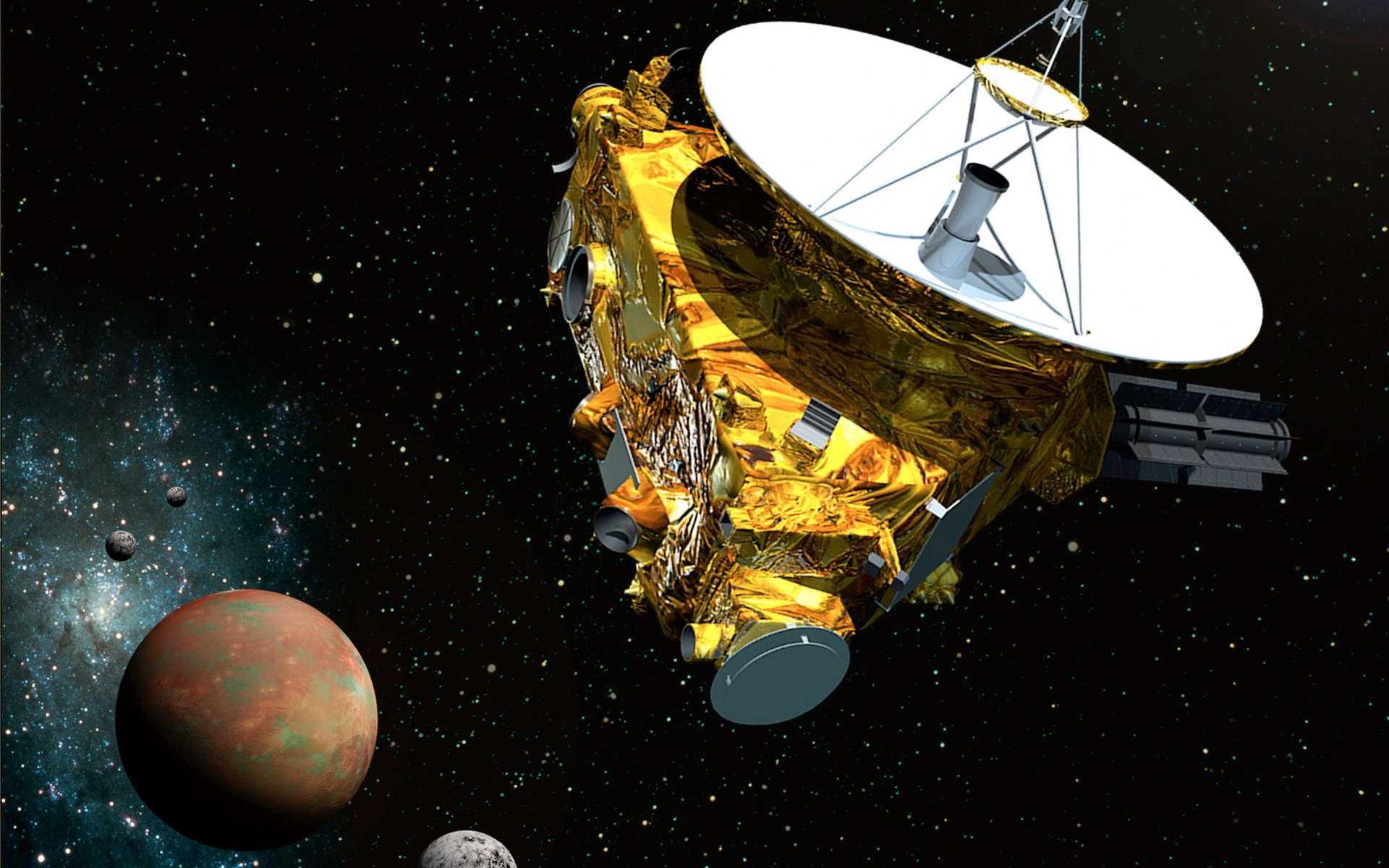 Lancée en janvier 2006, la sonde New Horizons sera le premier engin à rejoindre Pluton en juillet 2015. Elle a effectué un détour par Jupiter pour augmenter sa vitesse. © (JHUAPL, SwRI)