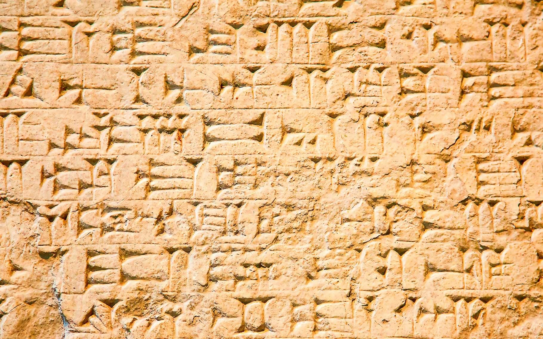 C'est en Mésopotamie que l'écriture a été inventée. Ici, une tablette couverte de signes cunéiformes provenant d'Irak. © Fedor Selivanov, Shutterstock