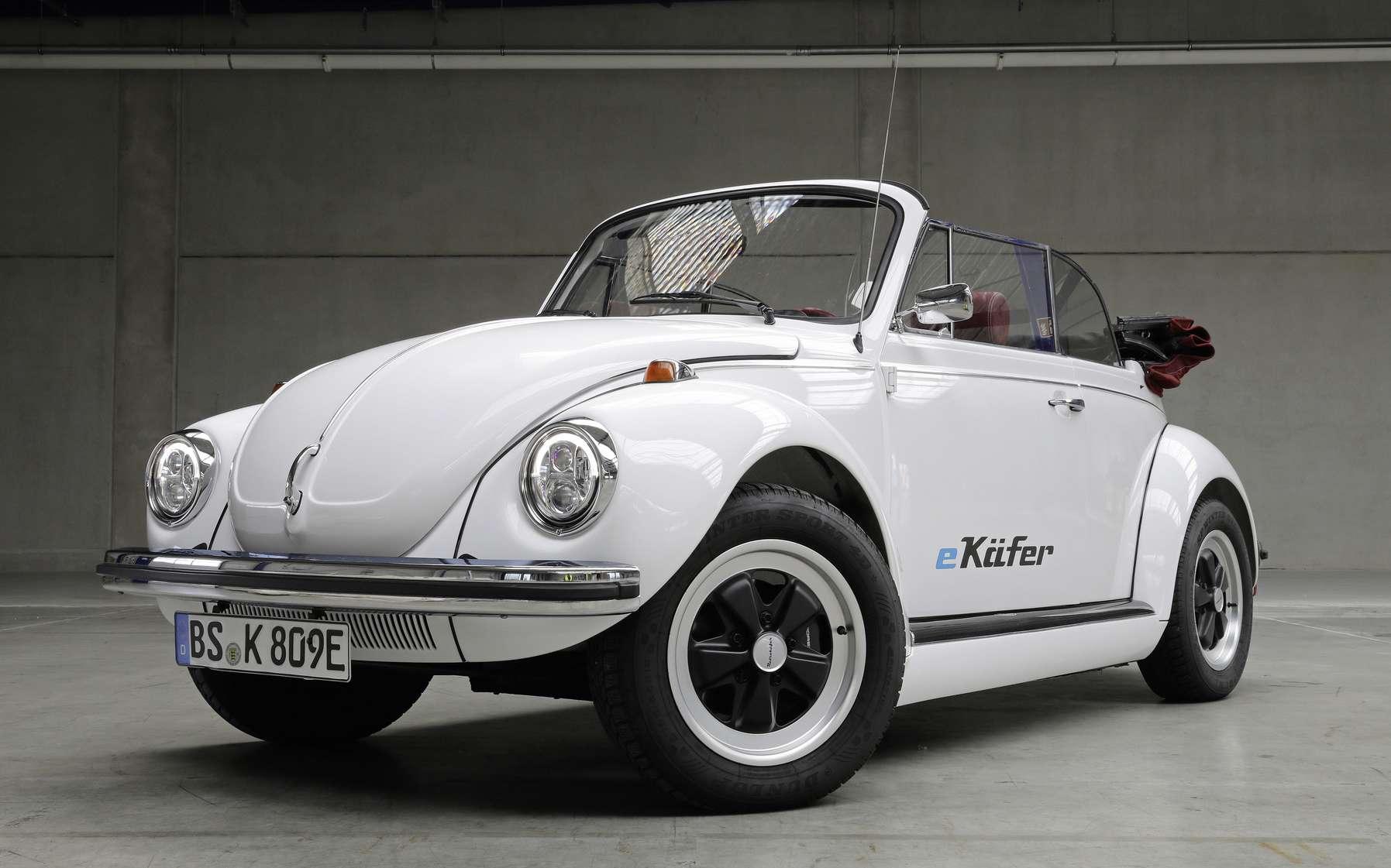 Le prototype de VW Coccinelle convertie à l'électrique sera exposé au salon auto de Francfort. © Volkswagen