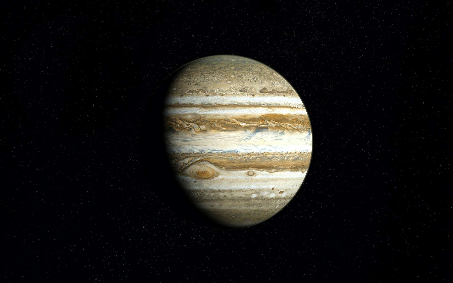 La sonde Juno a révélé l'existence sur Jupiter, d'éclairs peu profonds. © Fox_Dsign, Adobe Stock