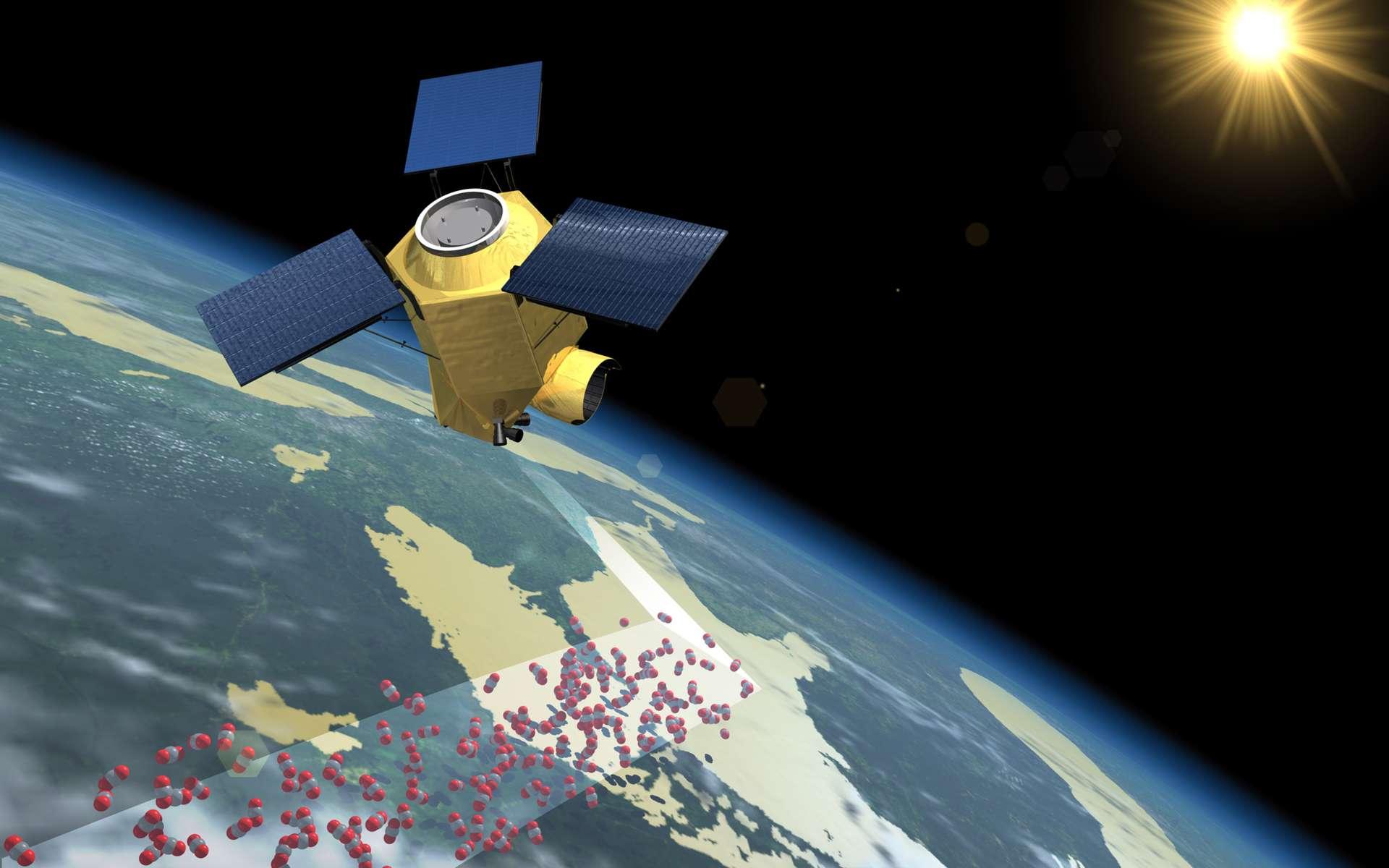 Si l'Esa retient le projet de satellite CarbonSat, dont l'étude a été confiée à Astrium, les scientifiques auront l'occasion de mieux quantifier les sources de CO2 et de méthane, humaines et géologiques. © Astrium