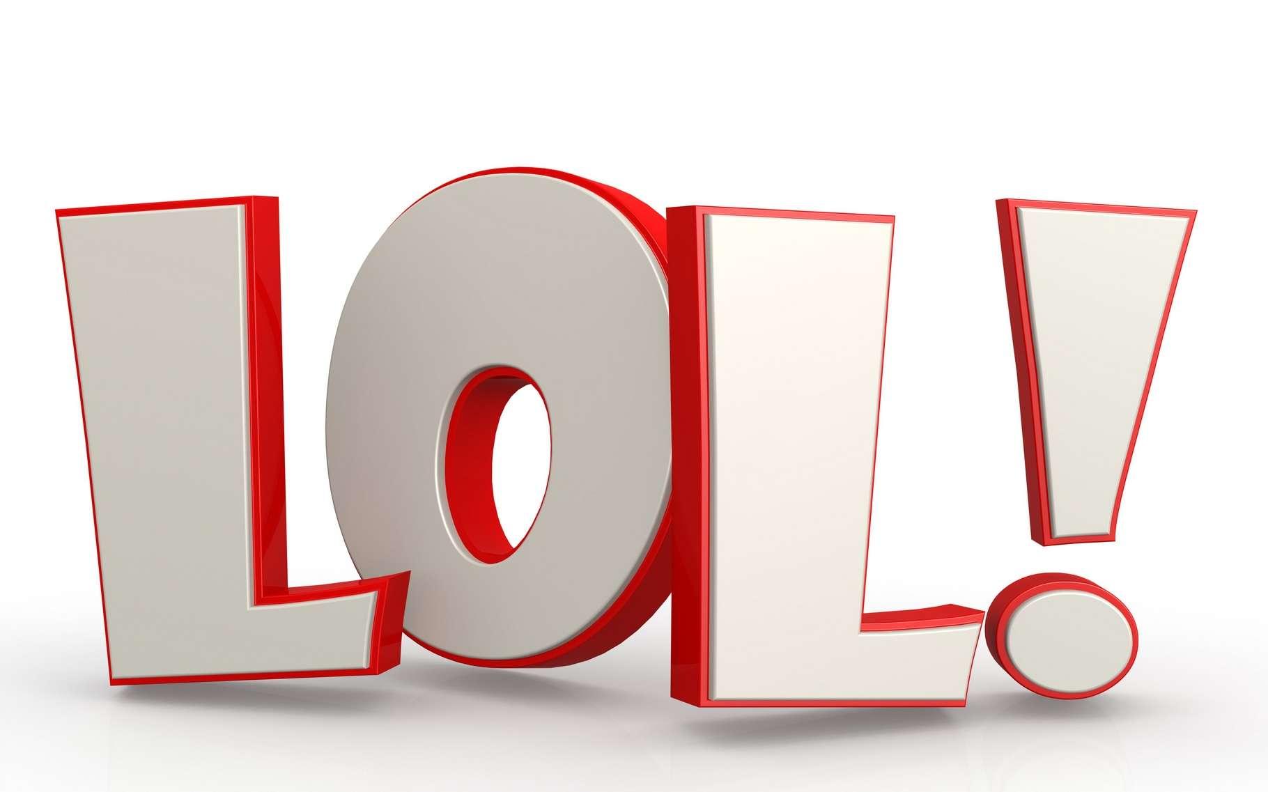 Née sur Internet, l'expression « lol », acronyme de laughing out loud s'est peu à peu glissée dans le langage courant utilisé par la génération Y. © Tang Yan Song, Shutterstock