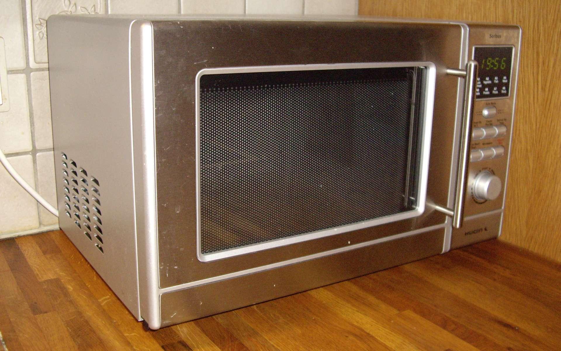 Le four à micro-ondes révolutionne la façon de cuisiner. Il est aussi utilisé dans les laboratoires de chimie pour sa capacité à activer ions et molécules. © Christian Rasmussen, CC BY-SA 3.0, Wikimédia Commons