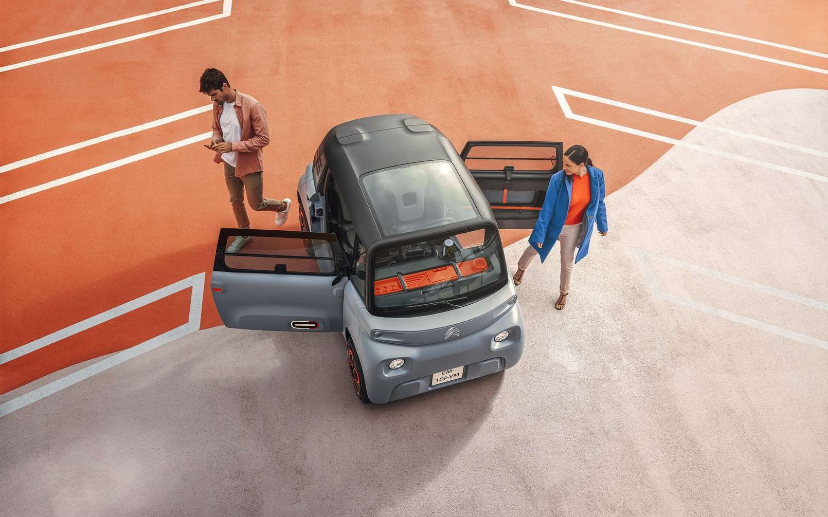 Citroën a opté pour des portes à ouverture antagoniste et une symétrie des pièces afin d'abaisser le coût de production de l'Ami. © Citroën