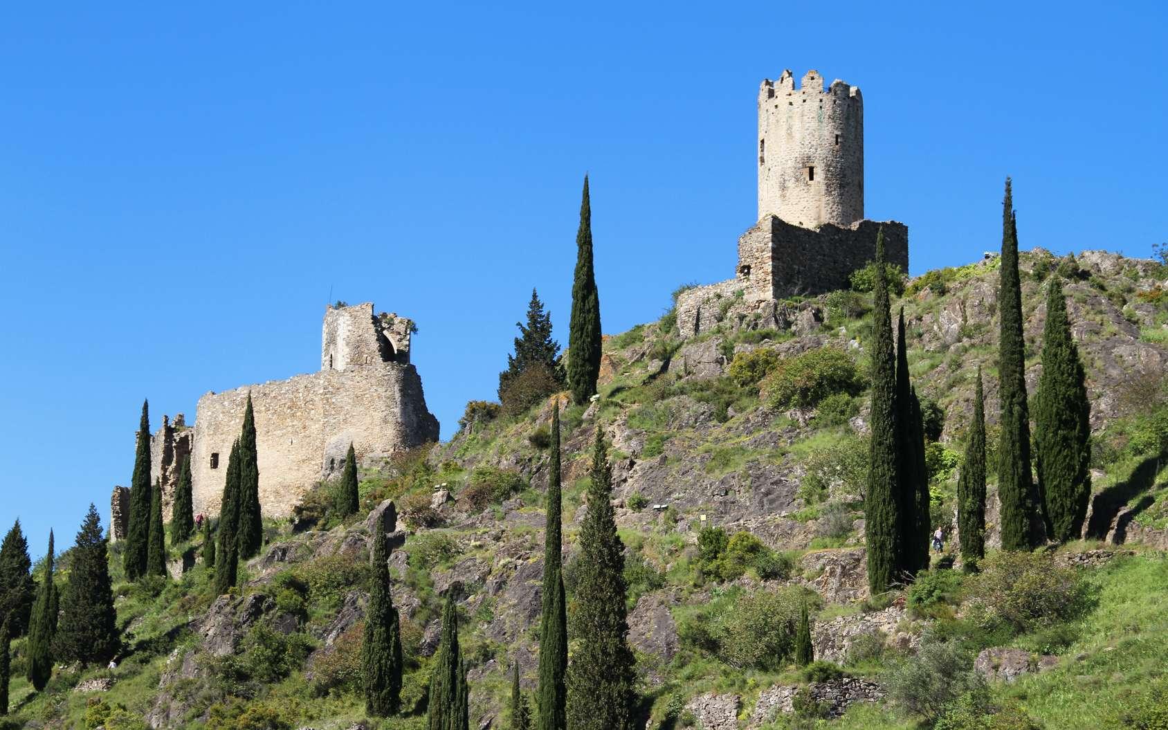 Vestige d'une forteresse en pays cathare. © stephane41, Fotolia