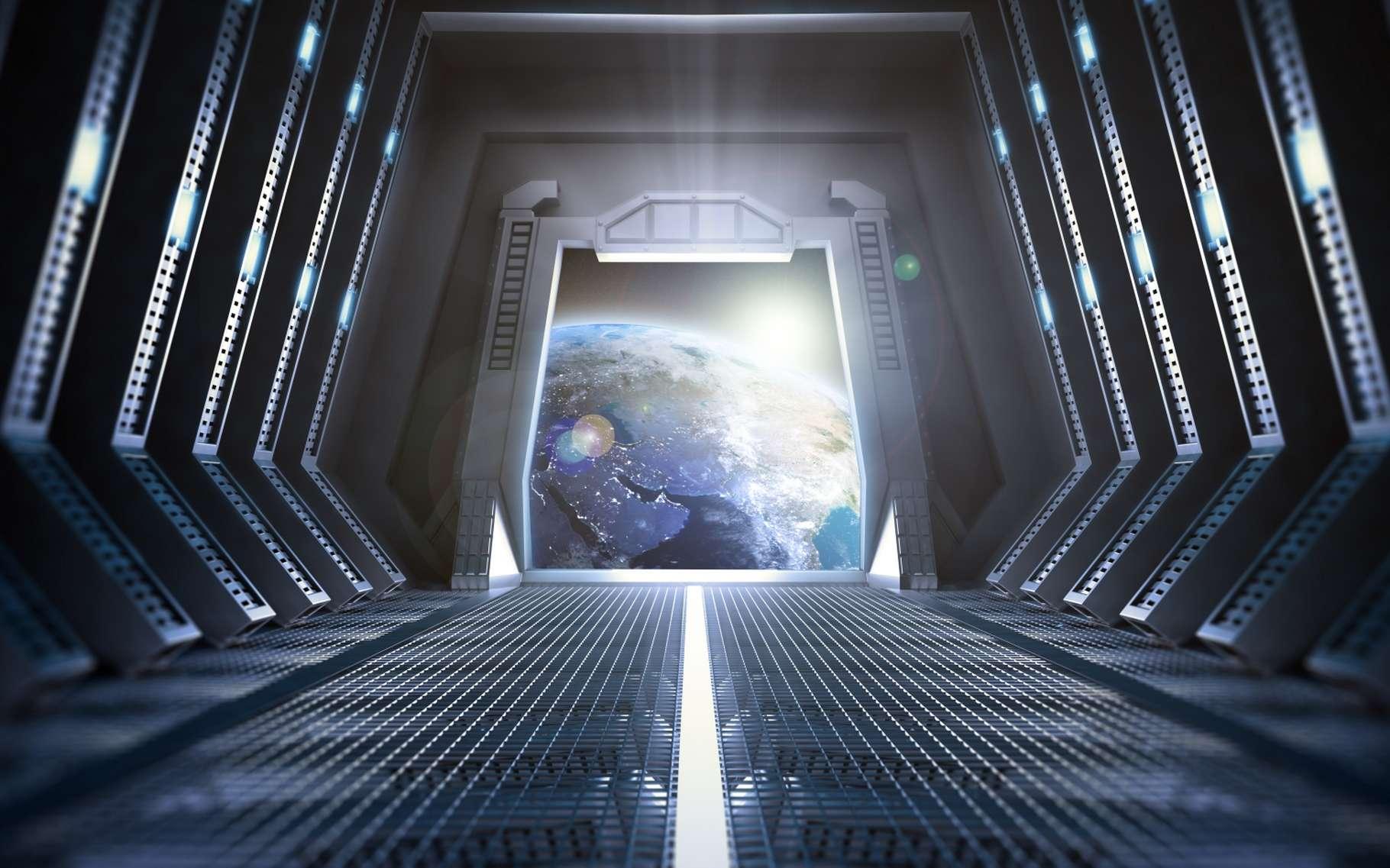 L'intérieur d'un vaisseau spatial du film Star Wars. © Shutterstock