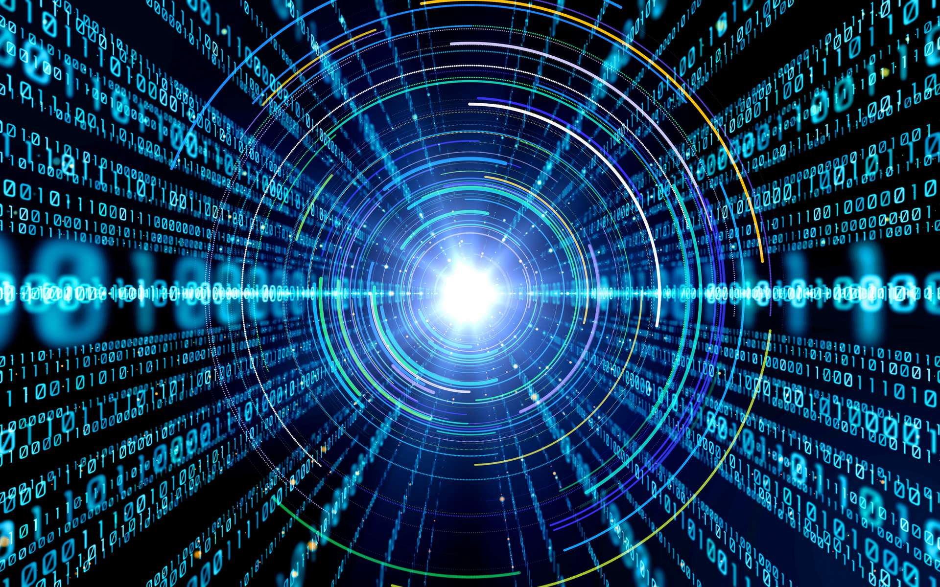 Une vue d'artiste de l'internet quantique depuis l'espace. © metamorworks, Adobe Stock