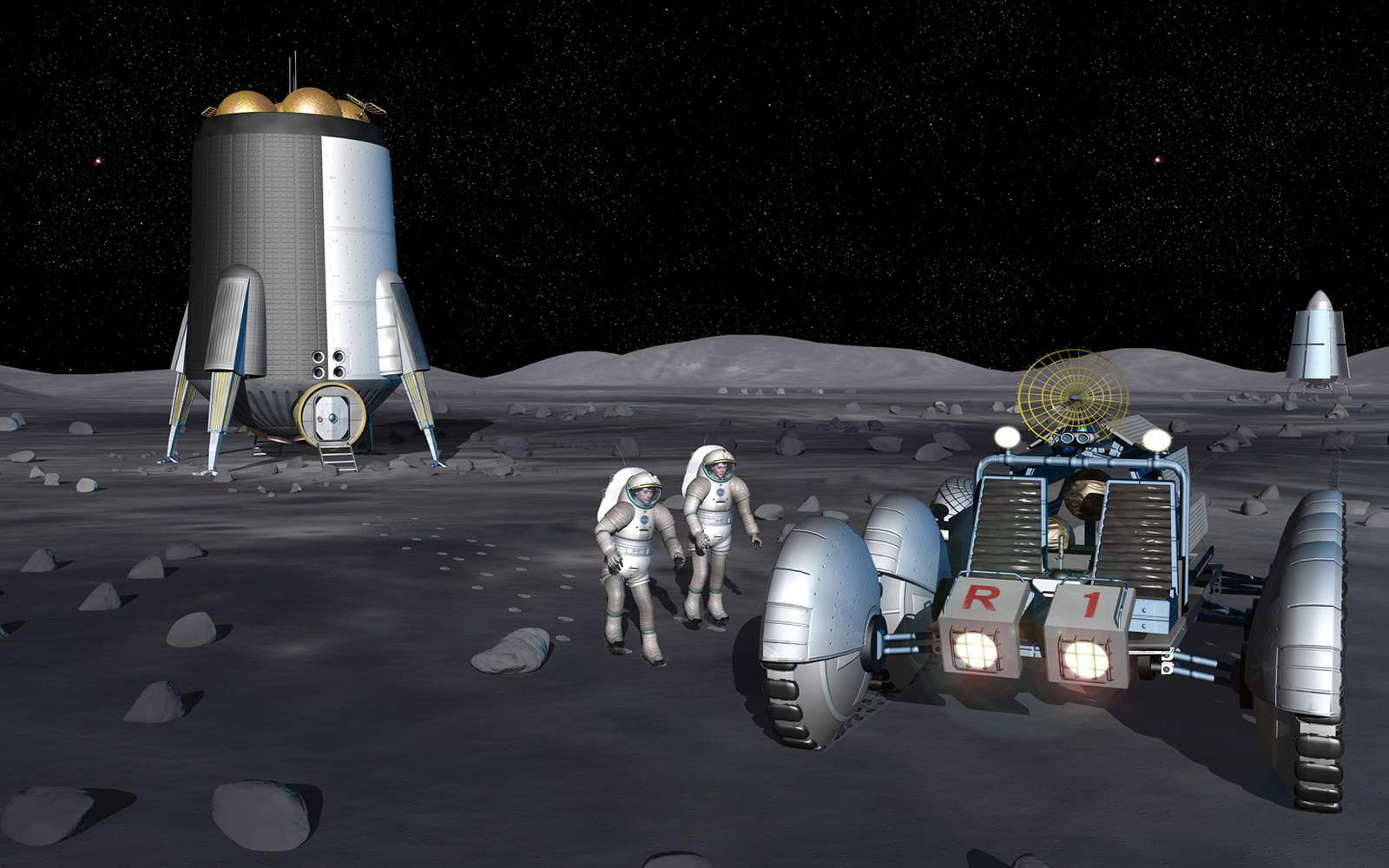 Le retour sur la Lune des Etats-Unis n'est plus envisageable pendant la décennie 2020-2030. Crédit Nasa