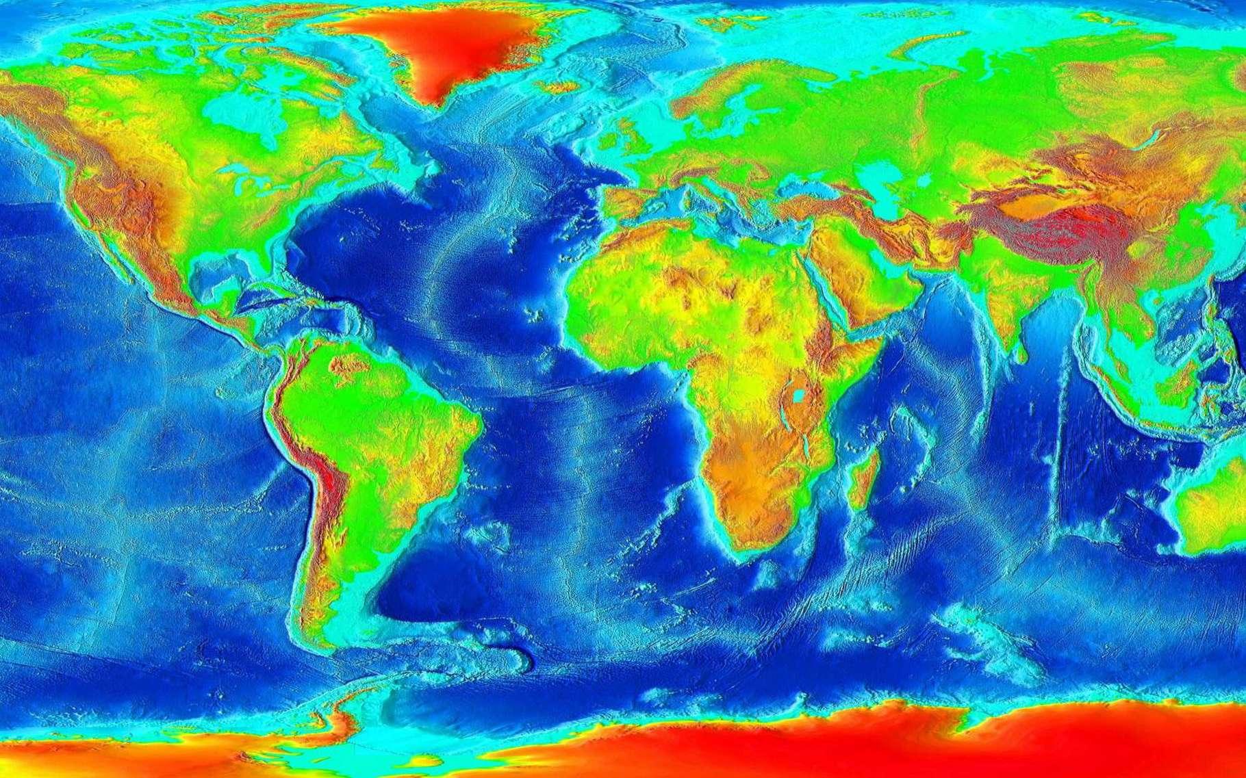 Carte du monde. © Tahaisik, Wikimedia commons, CC by-sa 3.0