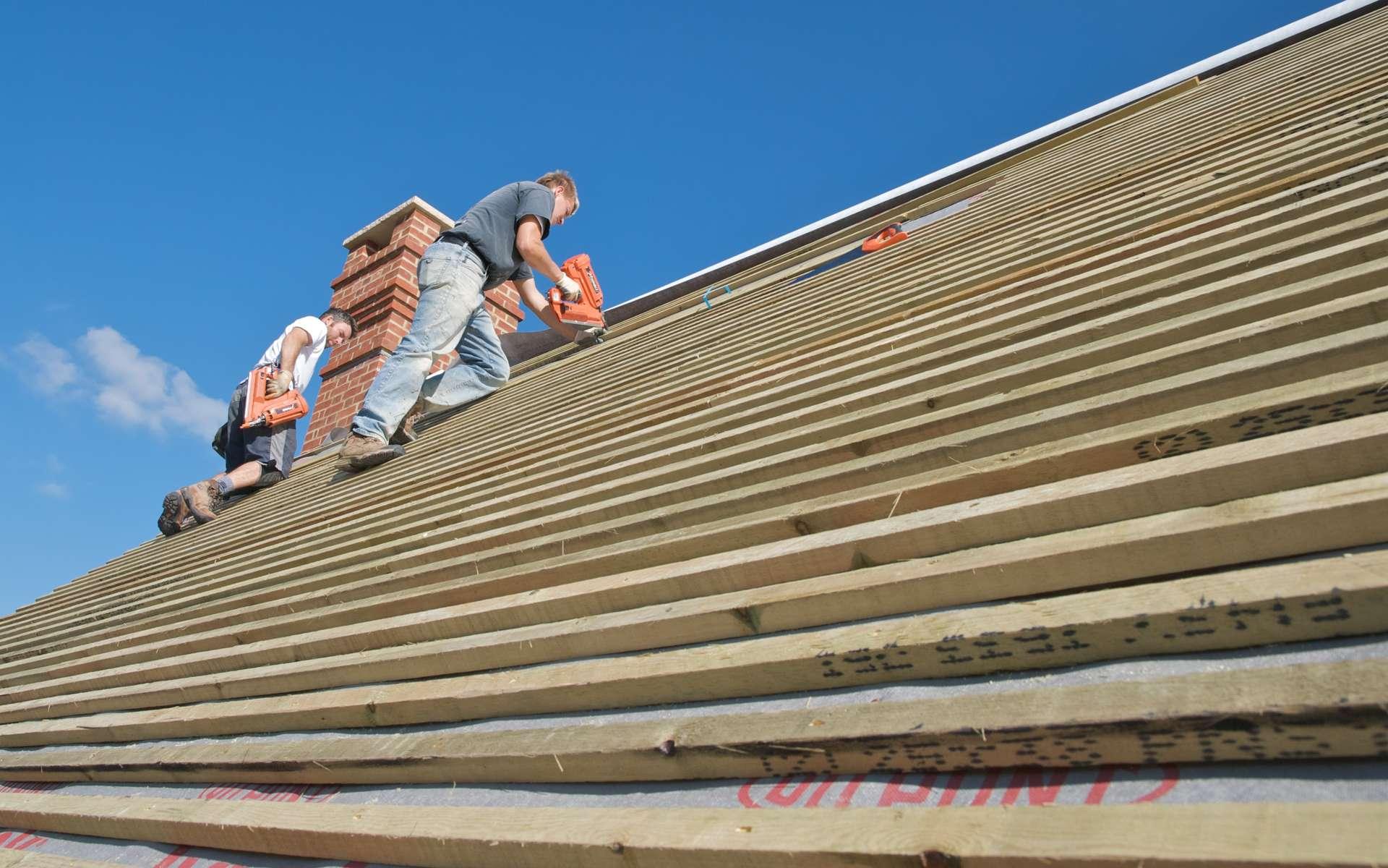 Le liteau est employé dans la construction des toitures. C'est lui qui va supporter les tuiles ou les ardoises. © Julian Berry, CC BY-SA 2.0, Flickr