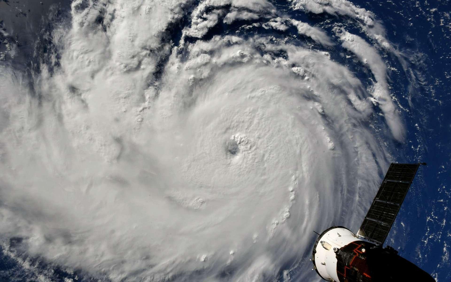 L'ouragan Florence vu de l'ISS le 10 septembre 2018. © Nasa