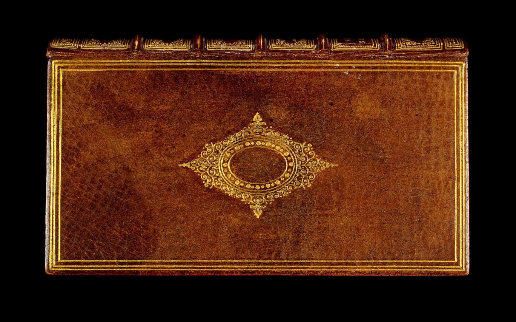 Un livre du XVIIe siècle, relié par le docteur Ludovic Bouland en peau de femme. © Wellcome Library, Wikimedia Commons