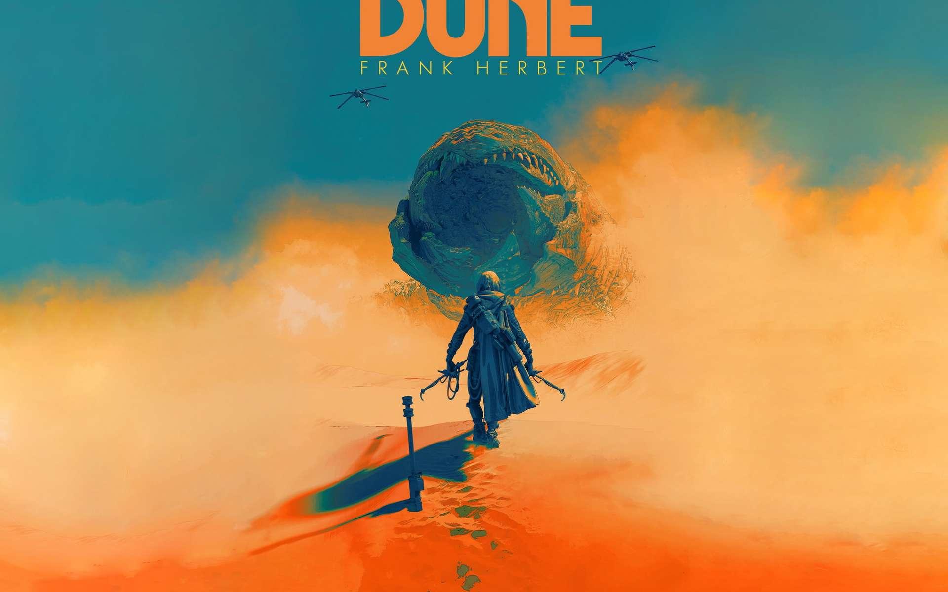 Artwork du roman Dune. © Pascal Blanché