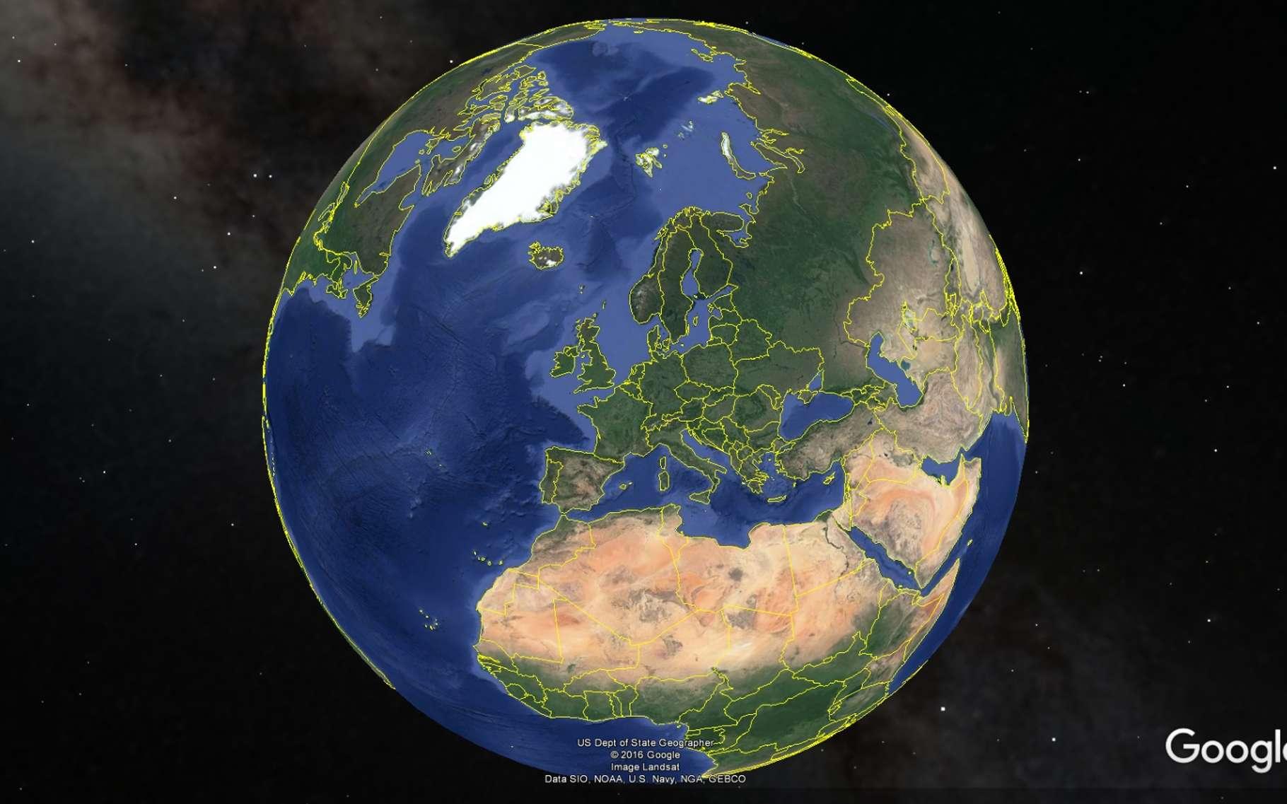 Google Earth fournit une image complète de la Terre. L'outil Earth Engine en offre 33, une pour chaque année entre 1984 et 2016. © Google