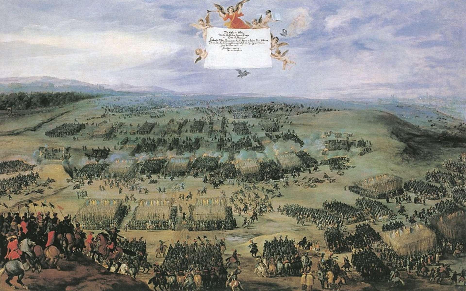 La guerre de Trente Ans et la bataille de la montagne Blanche, le 8 novembre 1620, peinture de Peeter Snayers. © Wikimedia Commons, Domaine public