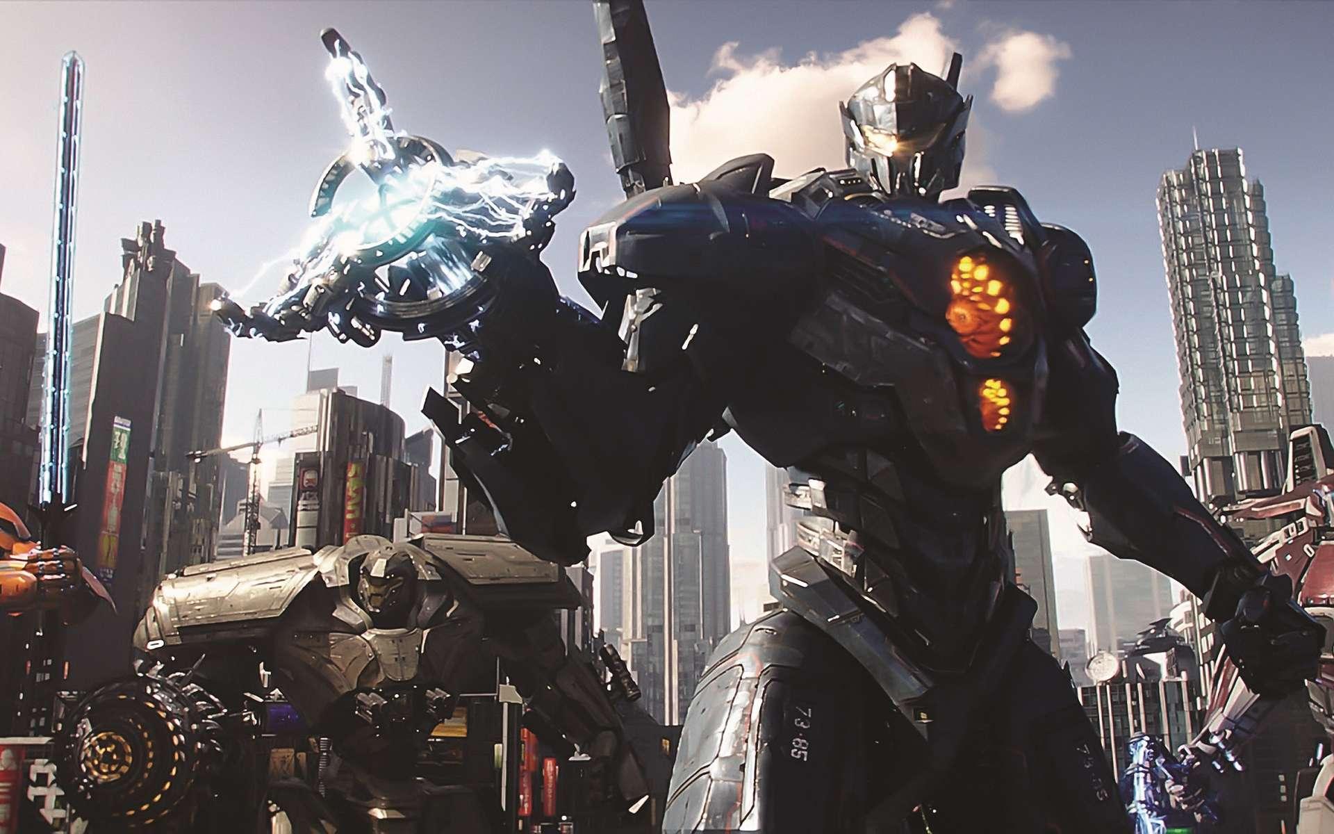 Les Jaeger (de l'allemand « chasseur ») de Pacific Rim : Uprising sont des robots géants. Deux pilotes reliés par télépathie les contrôlent par la pensée. © Universal Pictures International France