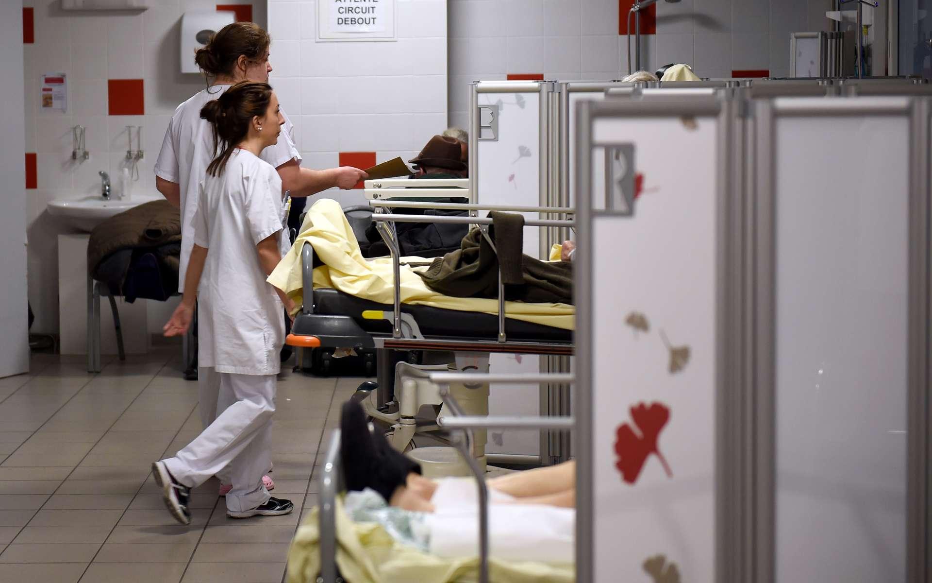 Au stade 3 de l'épidémie, seuls les patients les plus gravement malades seront pris en charge à l'hôpital. © Guillaume Souvant, AFP