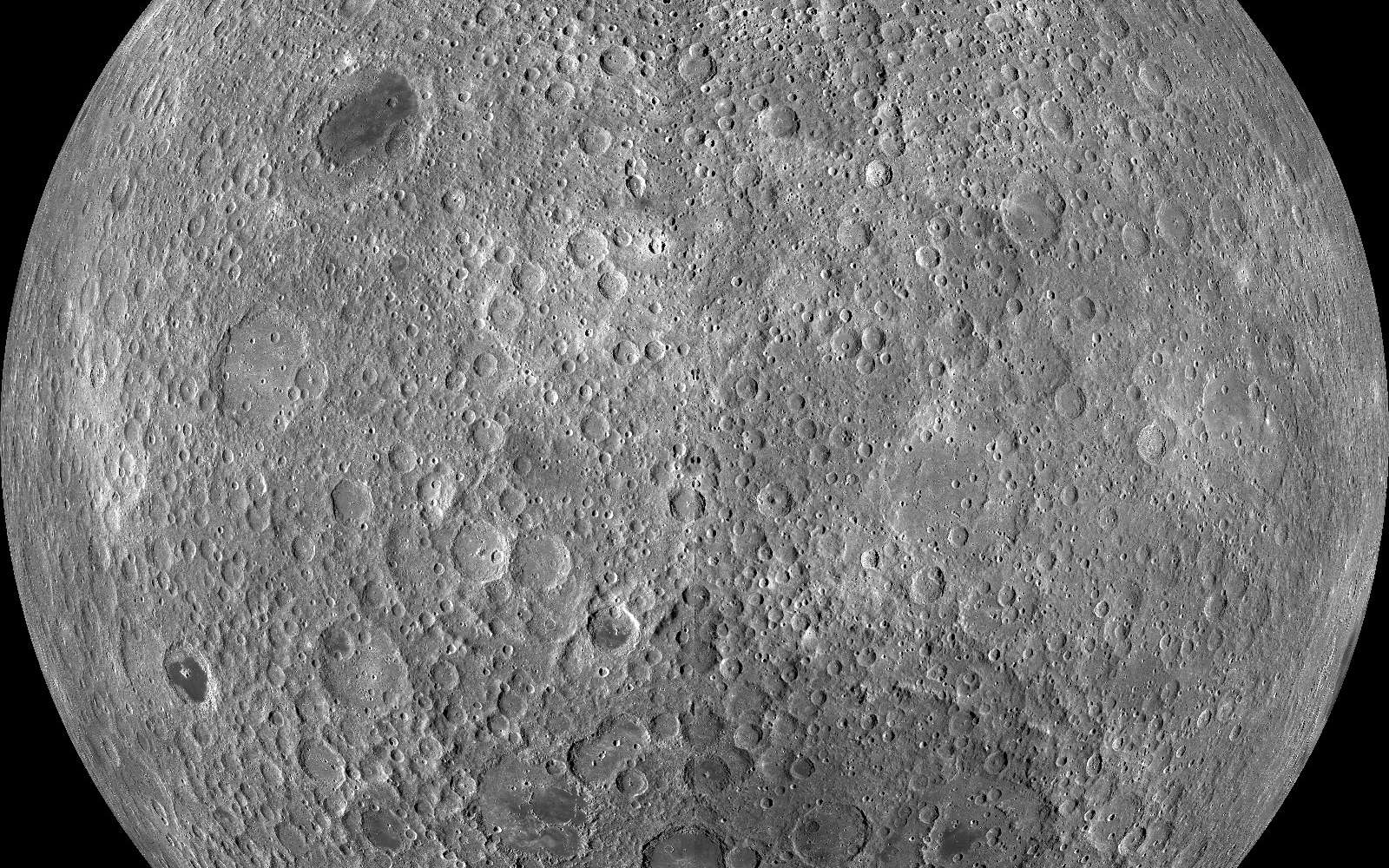 La face cachée de la Lune, comme on ne l'avait jamais vue. © Nasa/GSFC/Arizona State University