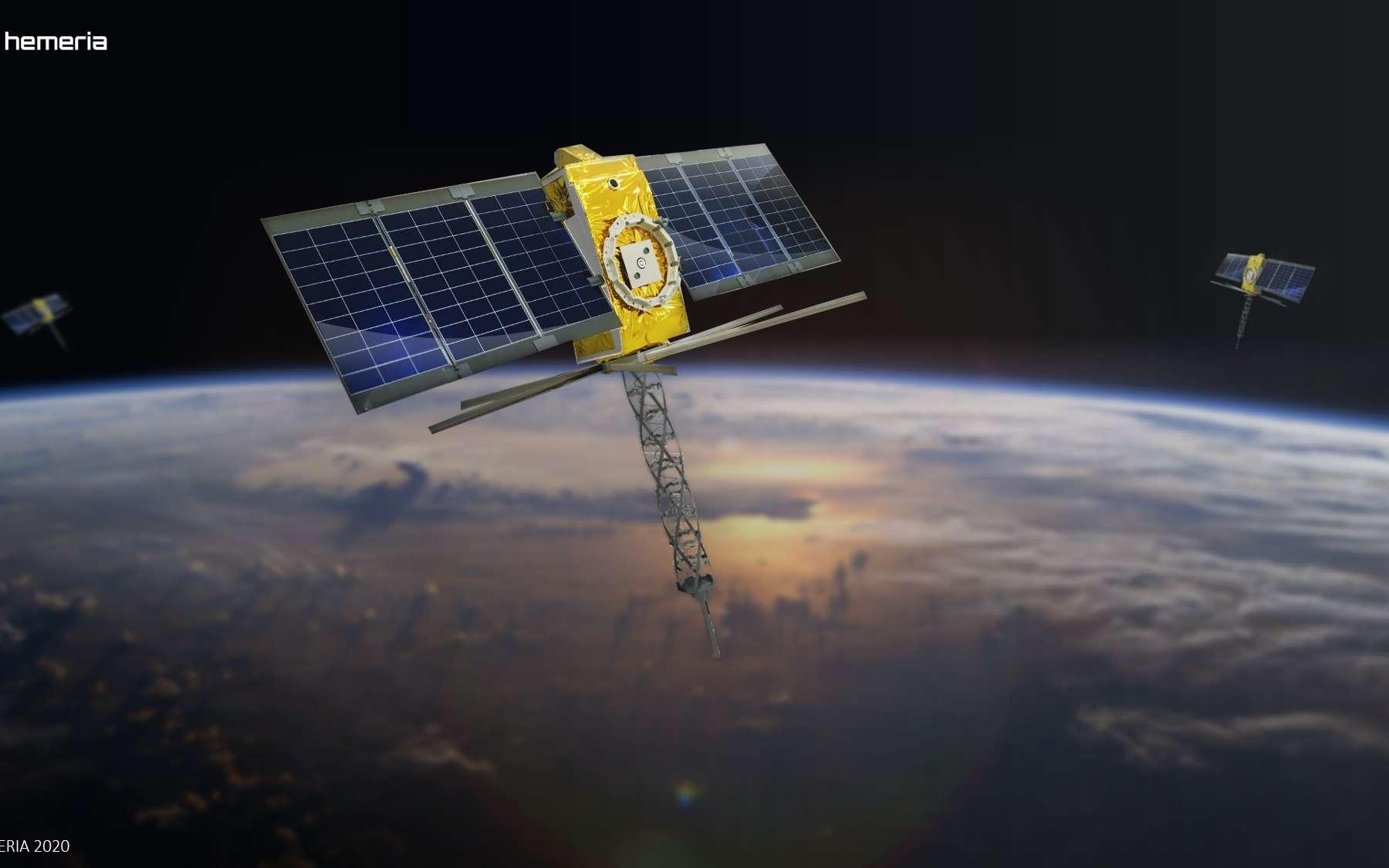 Les nanosatellites de la constellation Kinéis sont construits par la PME toulousaine Héméria. © Kinéis