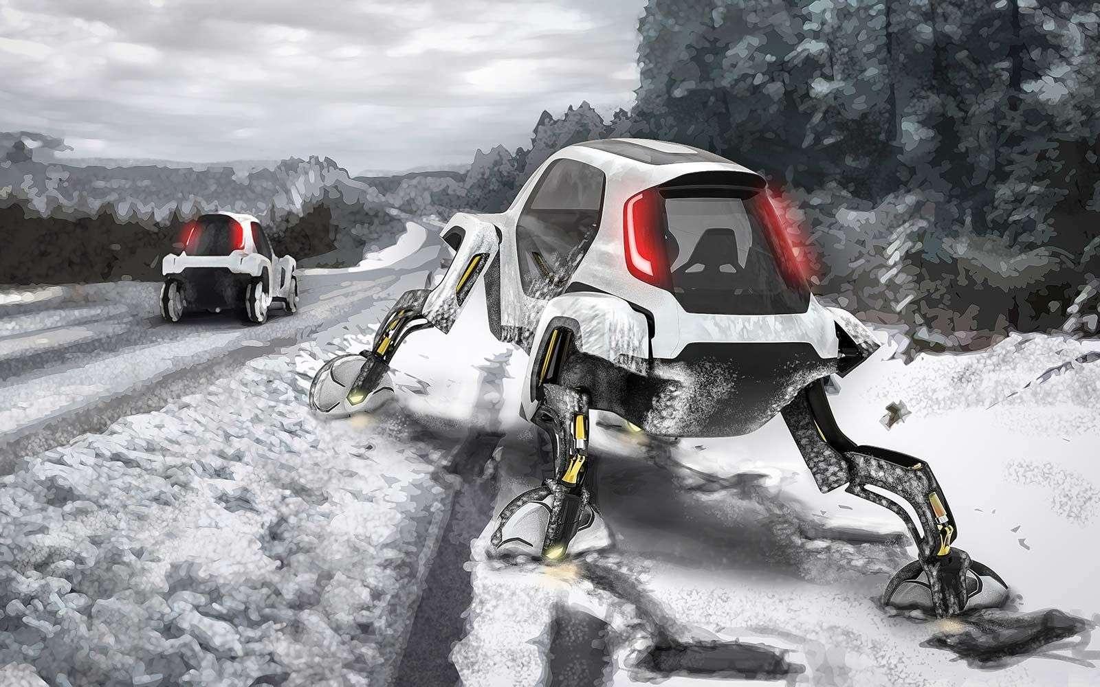 Le concept de voiture enjambeuse. © Hyundai