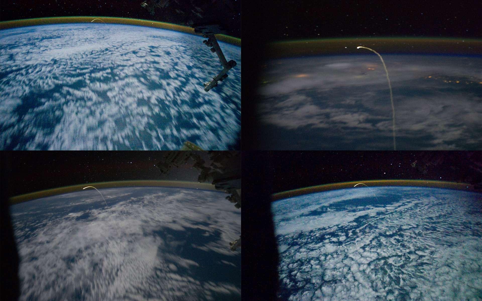 Images du dernier plongeon d'une navette dans l'atmosphère terrestre pour venir se poser en Floride, au Centre spatial Kennedy. © Nasa