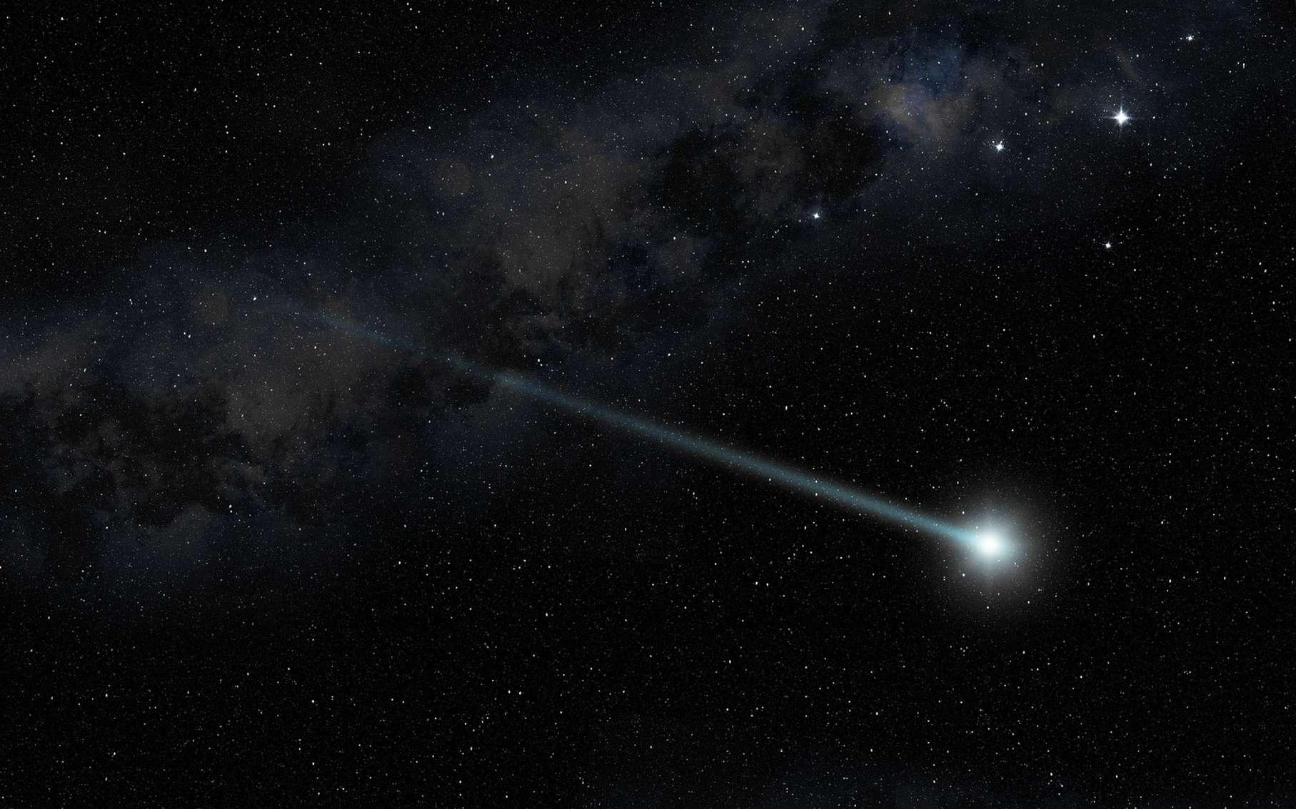 Illustraion d'une comète dans le ciel étoilé. © Paulista, fotoliat