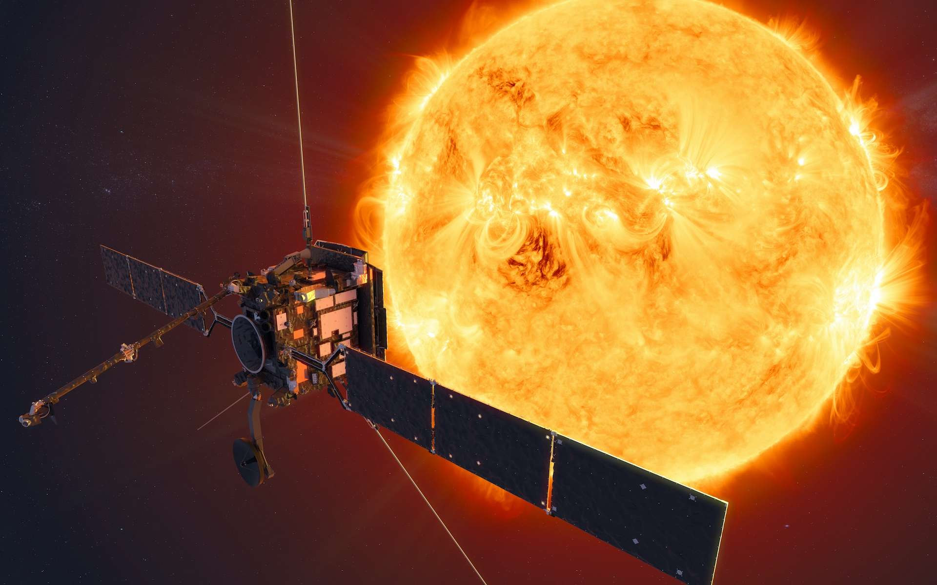Illustration du satellite Solar Orbiter. © ESA, ATG Medialab