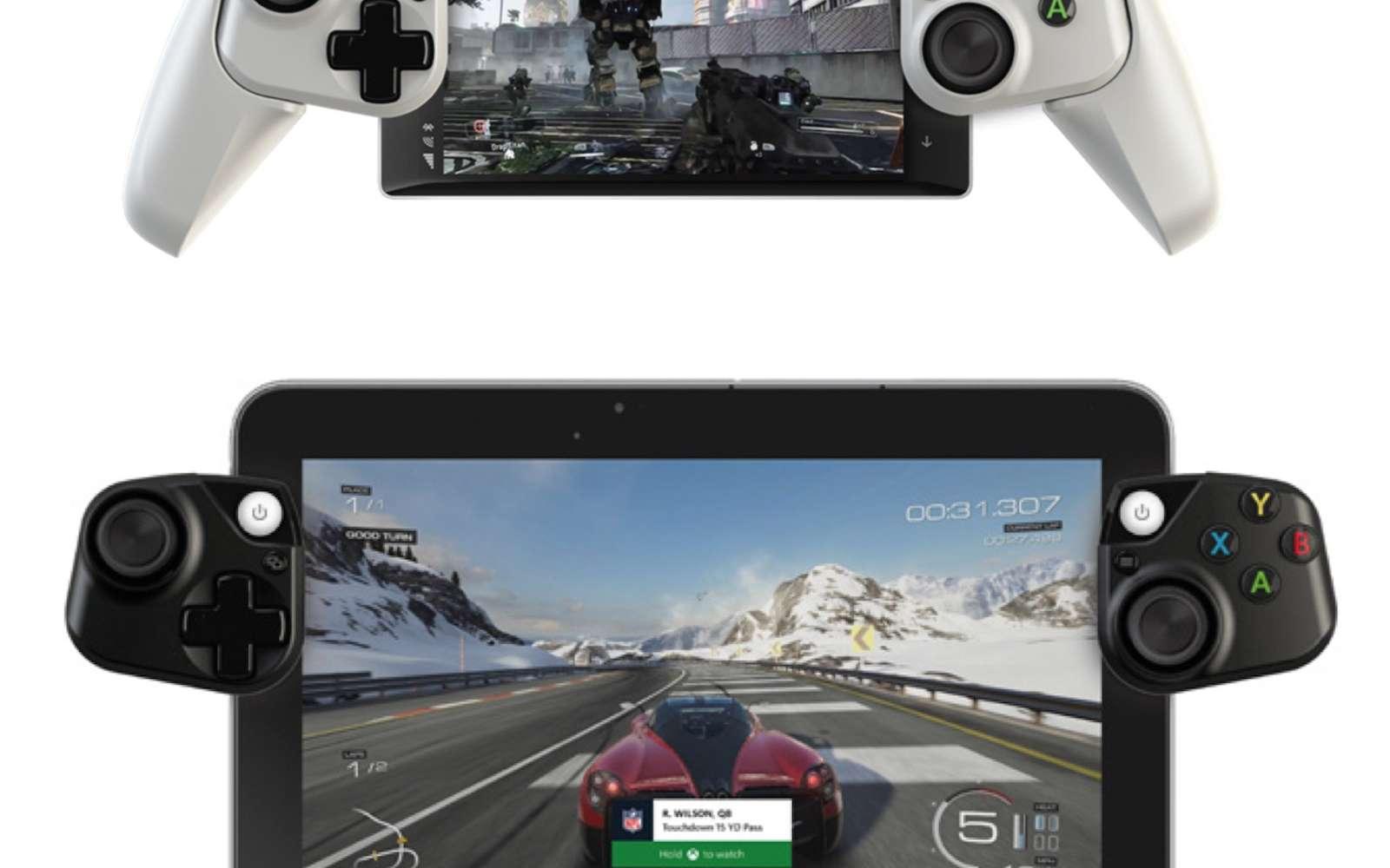 Il y a cinq ans, Microsoft avait déjà évoqué l'arrivée d'accessoires pour transformer un appareil mobile en manette de jeu. © Microsoft Research