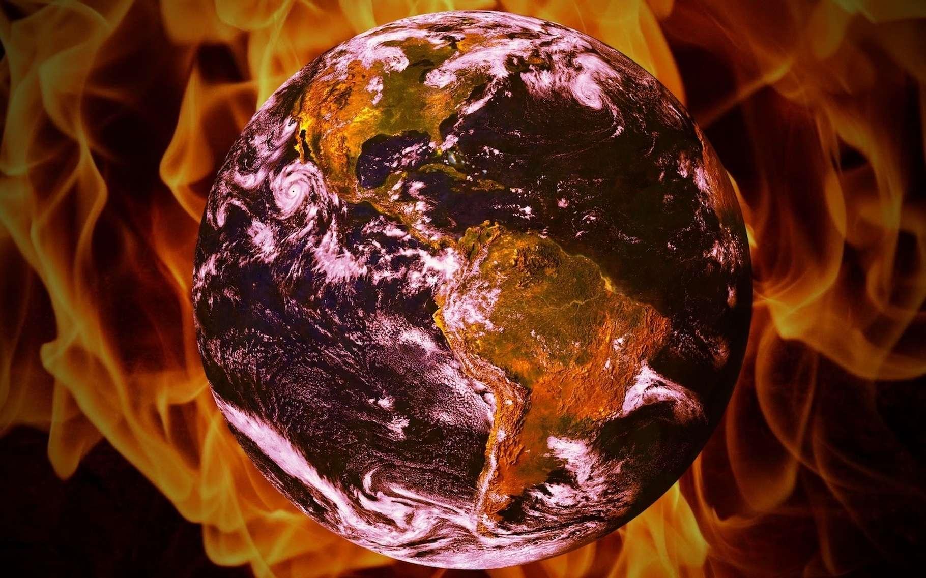Selon une hypothèse de chercheurs australiens, la Terre pourrait être bien plus sensible que prévu à une augmentation des concentrations en CO2 atmosphérique. © typographiyimages, Pixabay, CC0 Public Domain