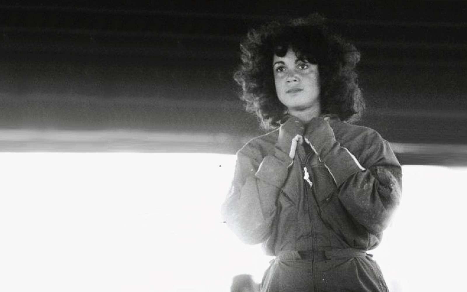 Judith Resnik lors de la mission Discovery. © Nasa