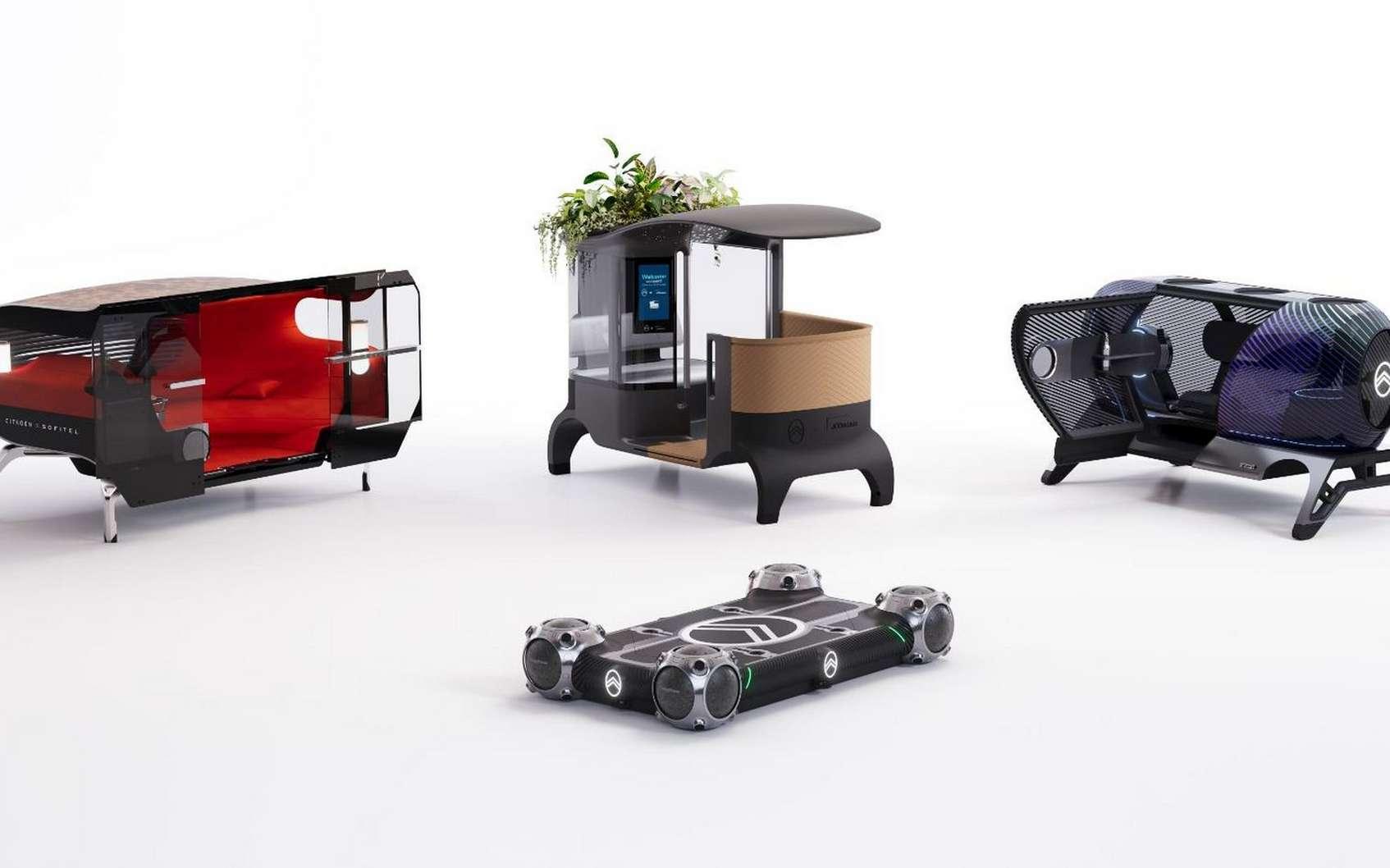 Le concept Citroën Skate est totalement modulaire. © Citroën
