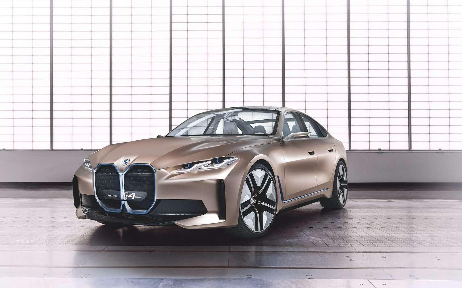 La BMW Concept i4 préfigure le modèle de série attendu en 2021. © BMW