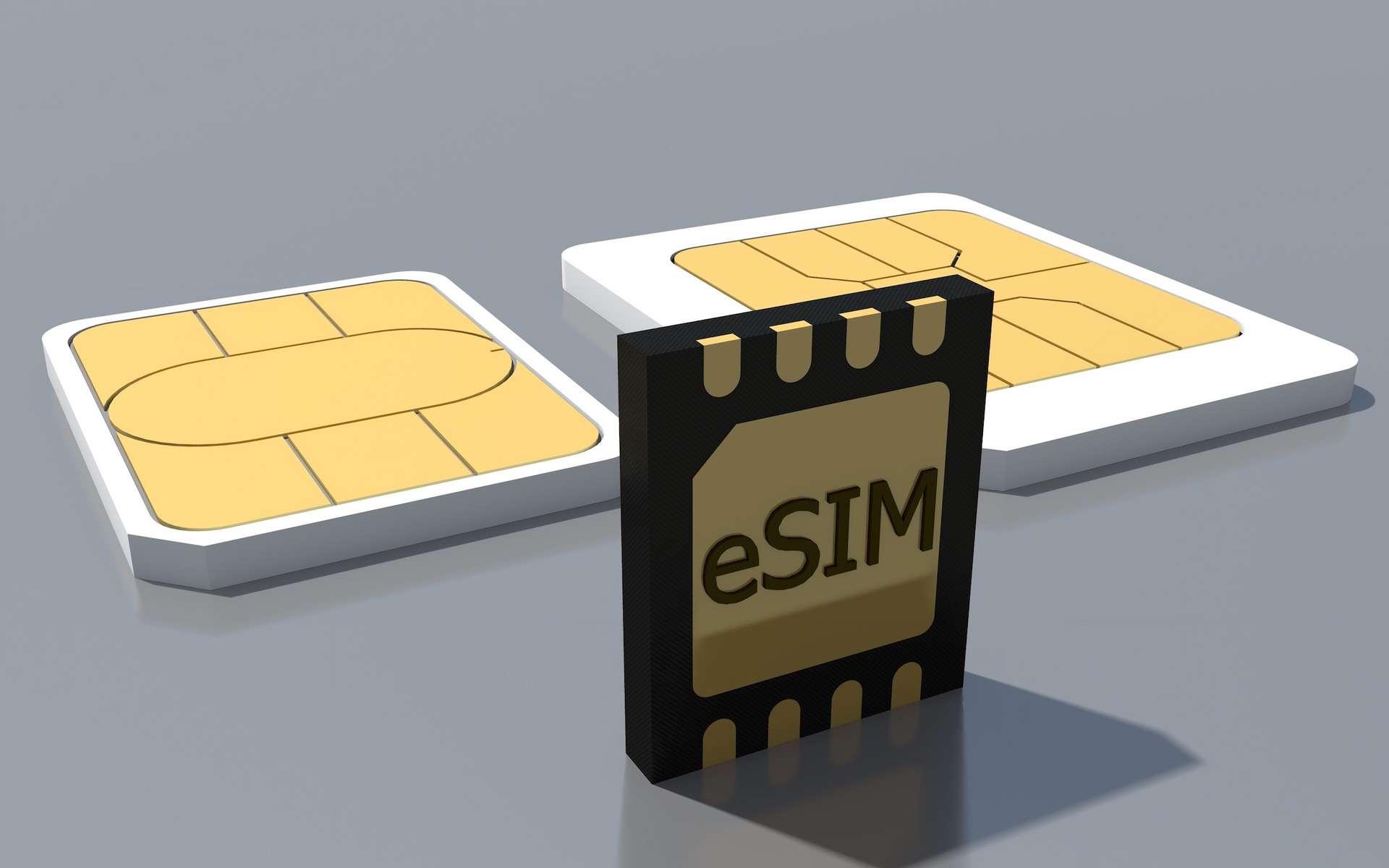 L'eSIM est intégrée à l'intérieur même du smartphone, ce qui évite de de demander une nouvelle carte SIM lorsqu'on change d'opérateur. © Henadz, Adobe Stock