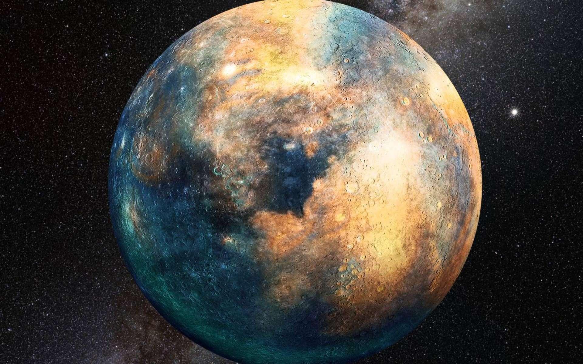 Portrait de l'hypothétique Planète 10 qui se cacherait aux confins du Système solaire. © Heather Roper, Lunar and Planetary Laboratory, University of Arizona