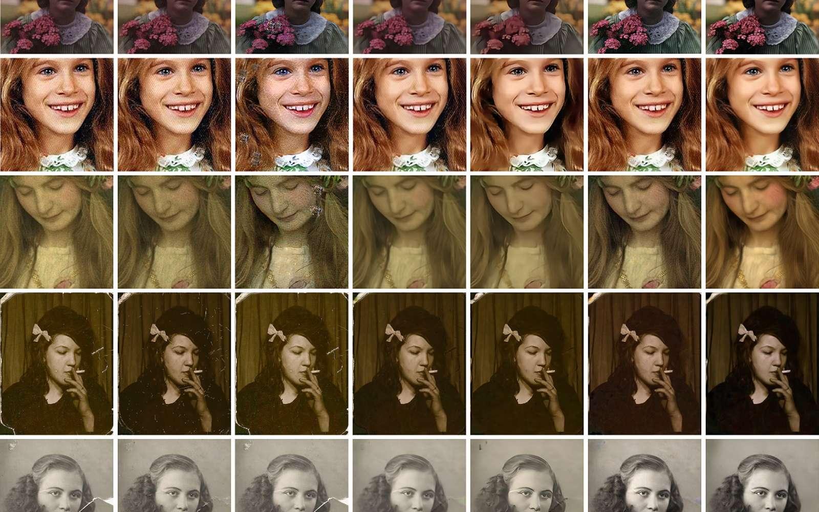 Des chercheurs de chez Microsoft et l'université de Hong Kong sont parvenus à restaurer des photos argentiques grâce à l'IA. © Microsoft