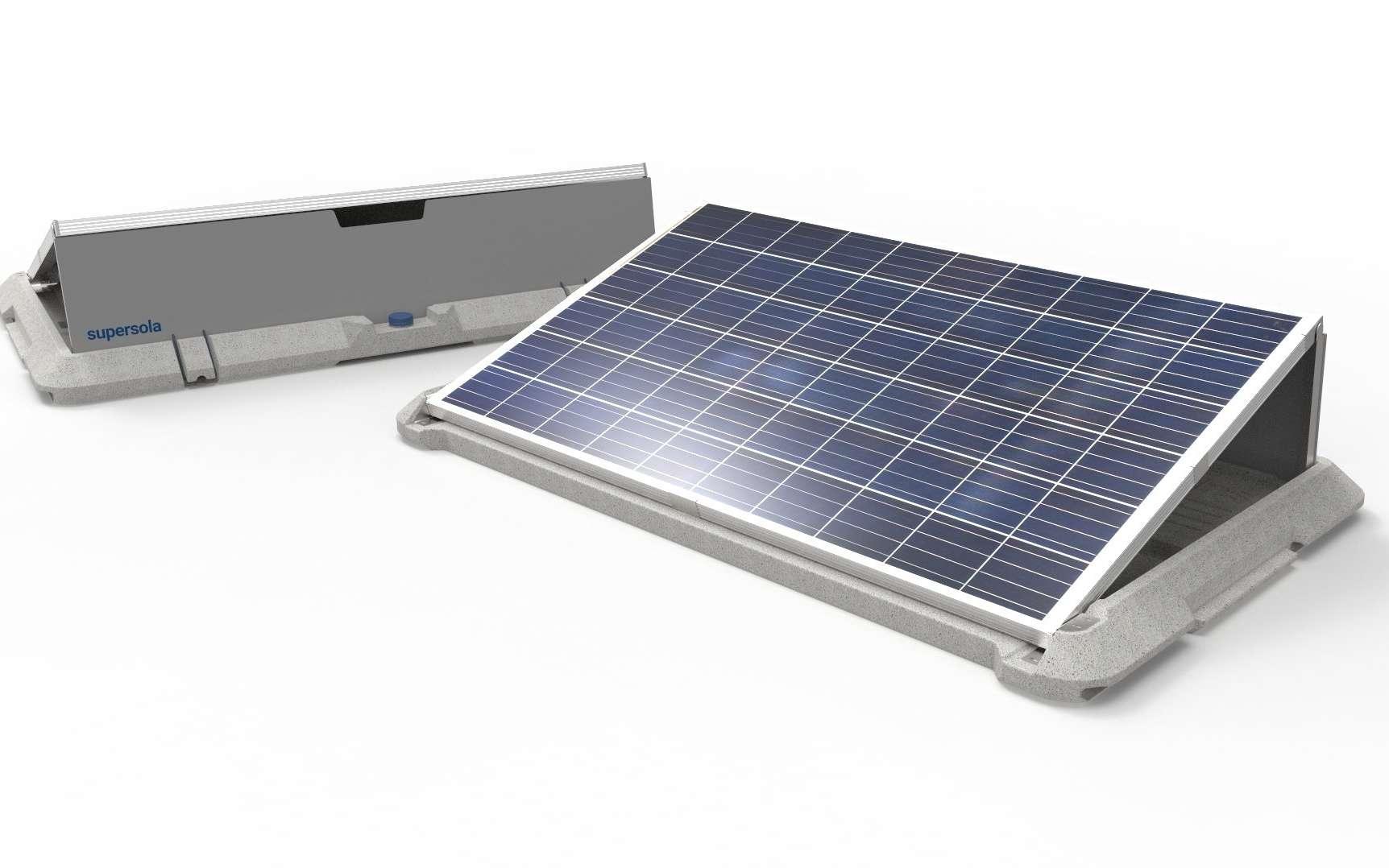 Le panneau solaire transportable Supersola occupe une surface d'environ 2 m². © Supersola