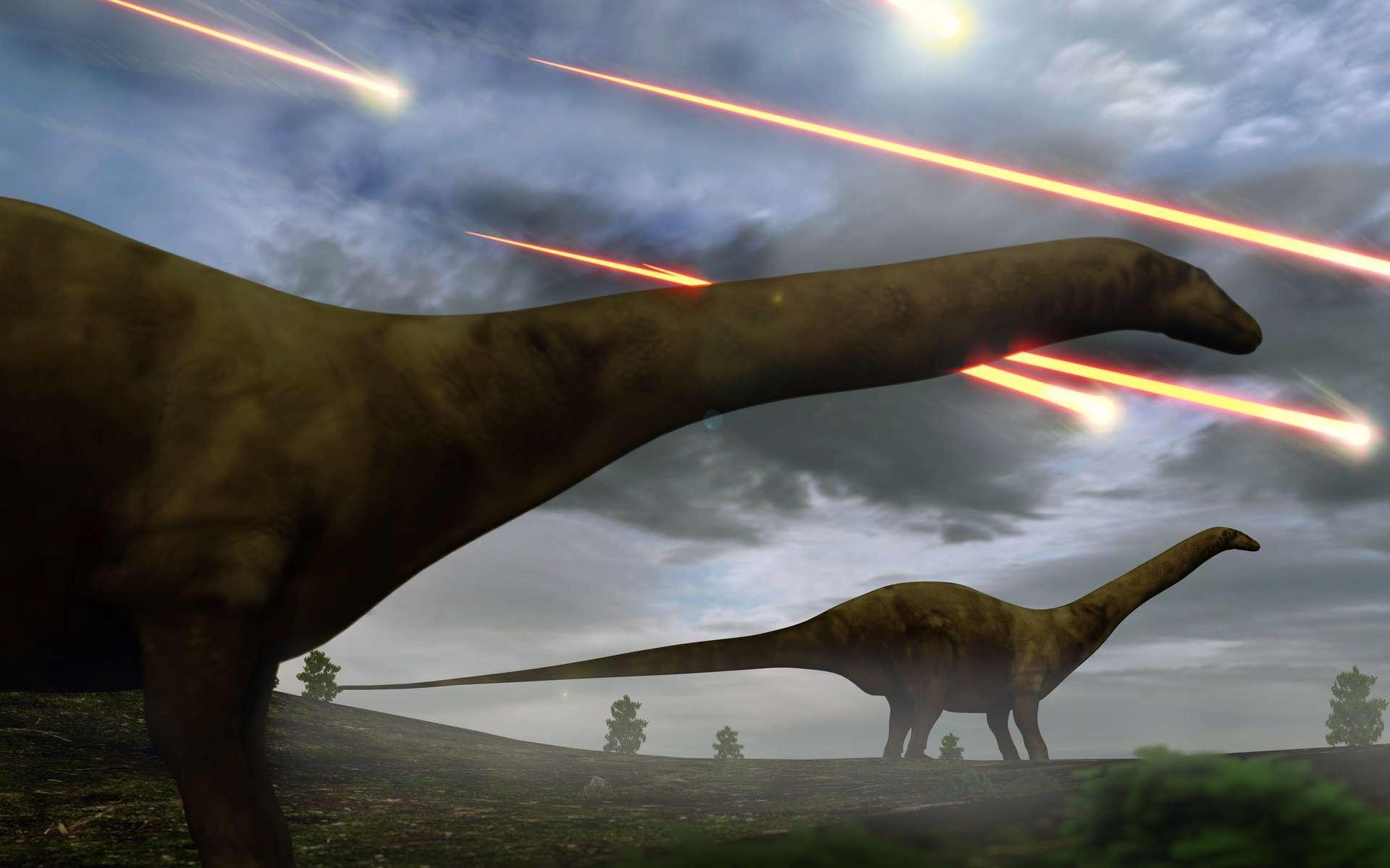 Une vue d'artiste de l'époque des dinosaures. © auntspray, Adobe Stock