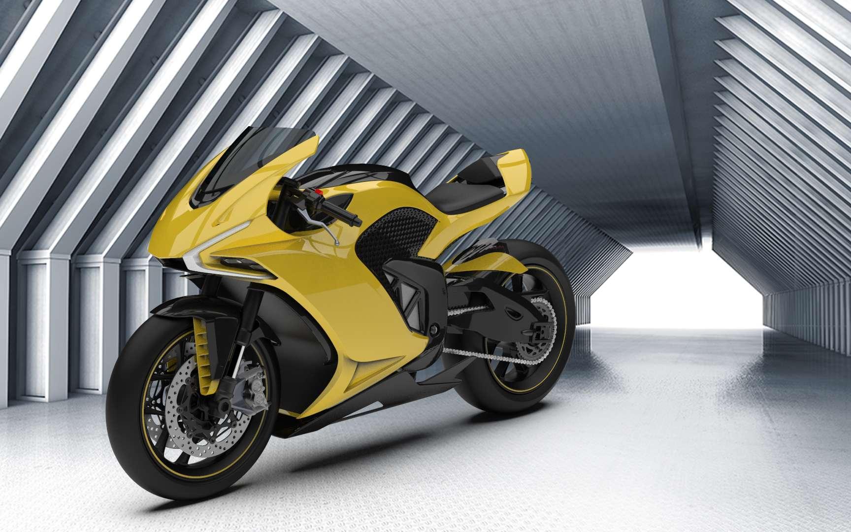 Damon Motors veut rendre la moto de demain beaucoup plus rassurante. © Damon Motors
