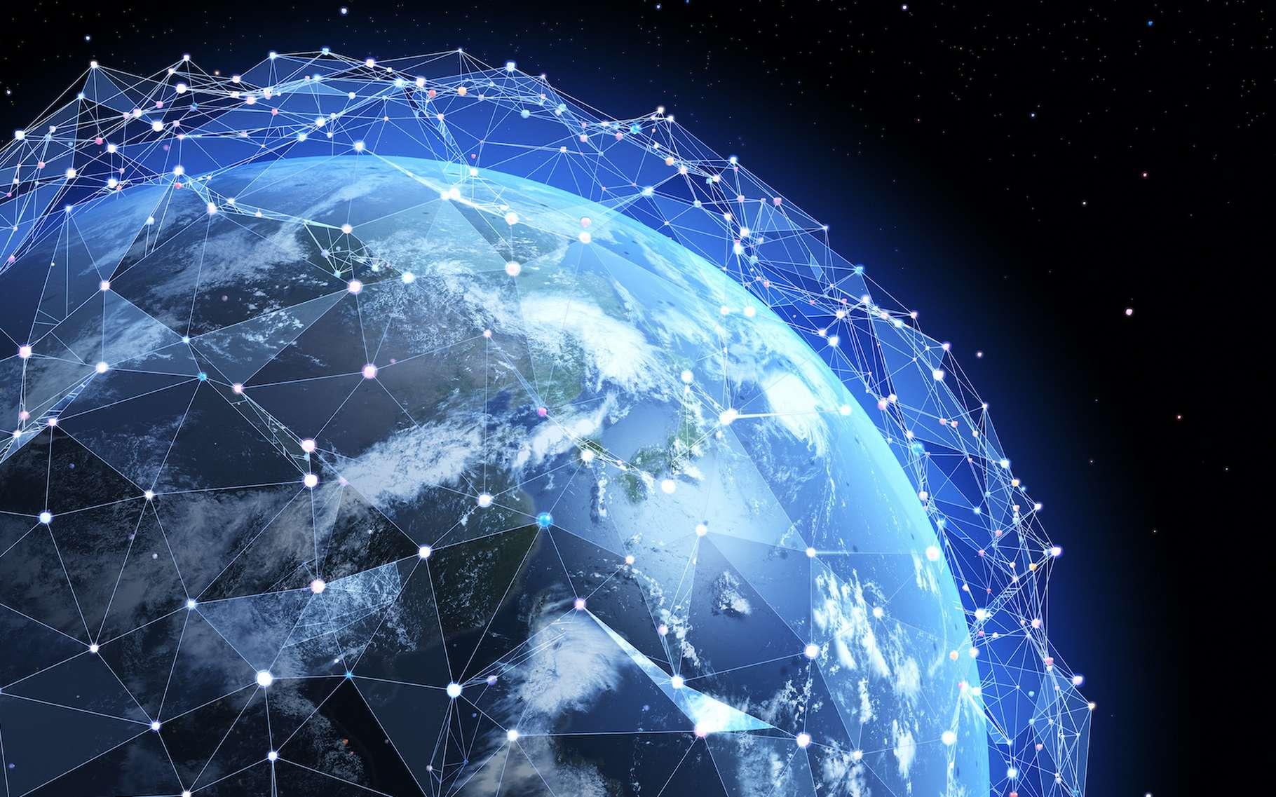 Fin 2019, il y avait plus de 2.000 satellites actifs en orbite autour de notre Terre. Parmi lesquels environ un quart en orbite géosynchrone. © Tatiana Shepeleva, Adobe Stock