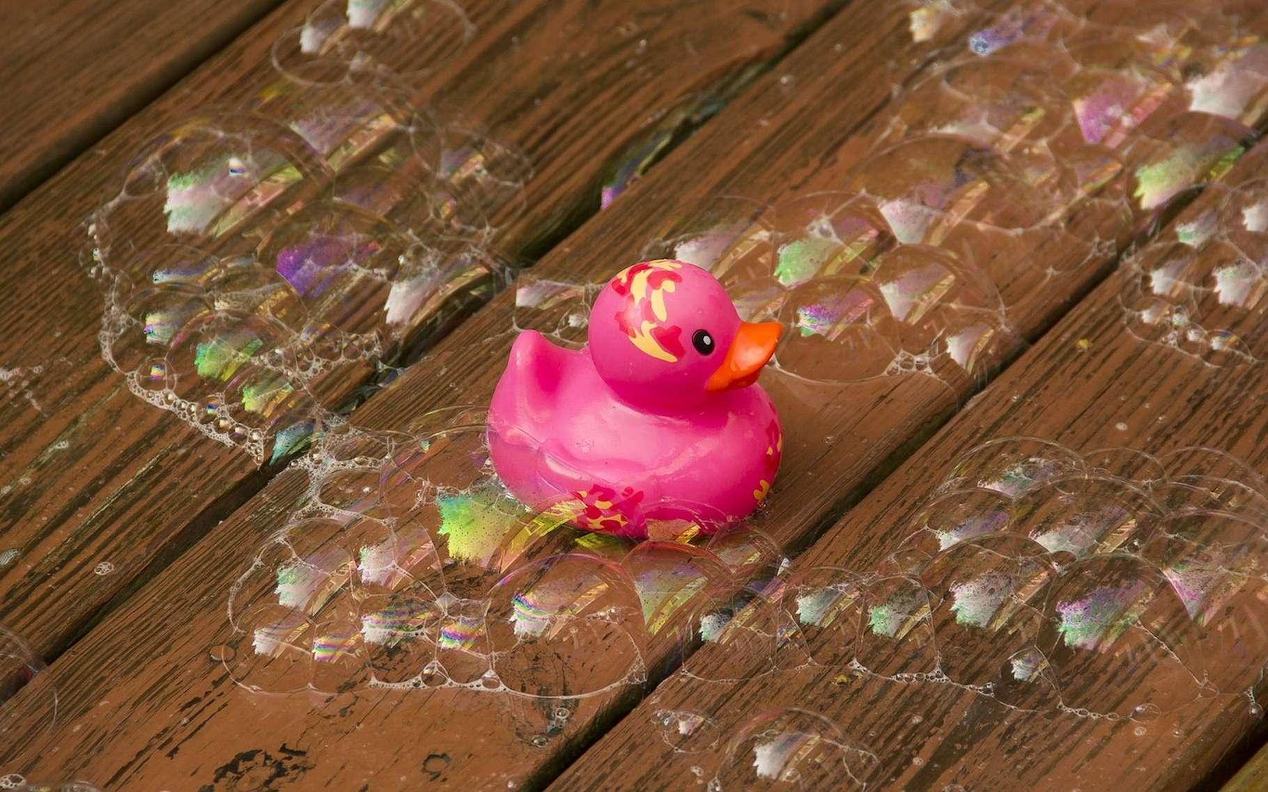 Ils sont tellement mignons quand ils barbotent dans l'eau du bain de nos petits… Pourtant, les canards en plastique ont la fâcheuse tendance à héberger champignons et bactéries en tout genre. © DVOC, Pixabay, CC0 Creative Commons