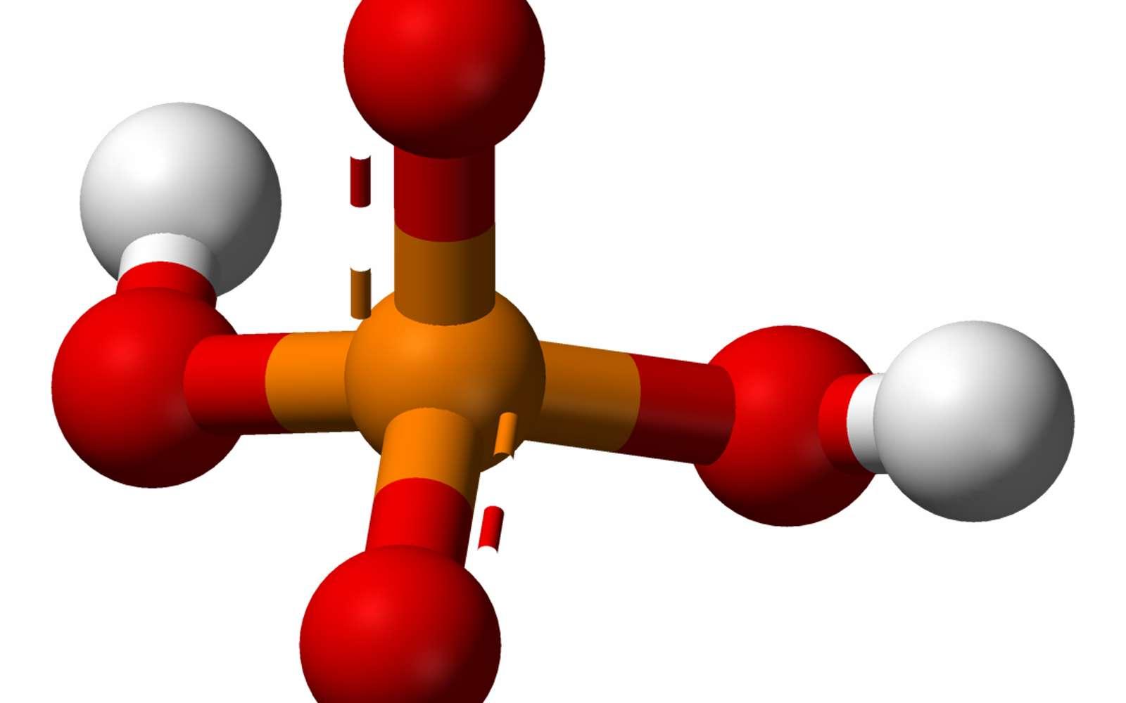 Le dihydrogène phosphate (H2PO4-) est une substance amphotère. © Wikipedia