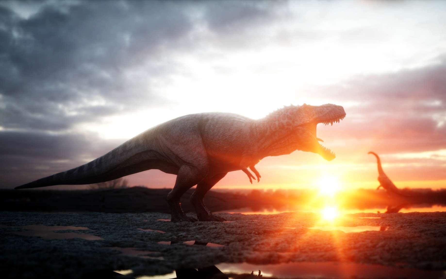 Suite à d'importantes éruptions volcaniques, les dinosaures ont pris leur essor. © chagpg, fotolia