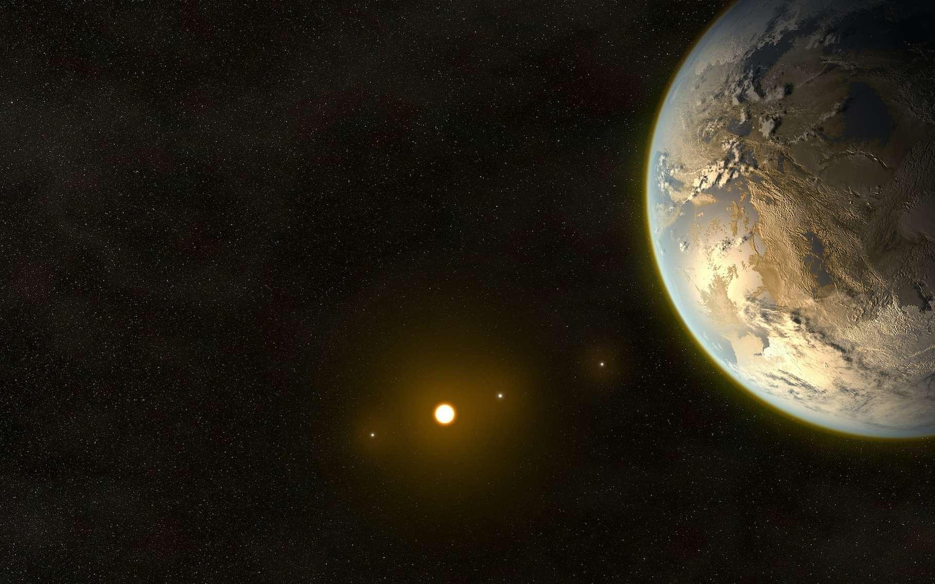 Des astronomes de l'université de Canterbury ont découvert une superterre à quelque 25.000 années-lumière de notre Planète. © Paulista, Adobe Stock