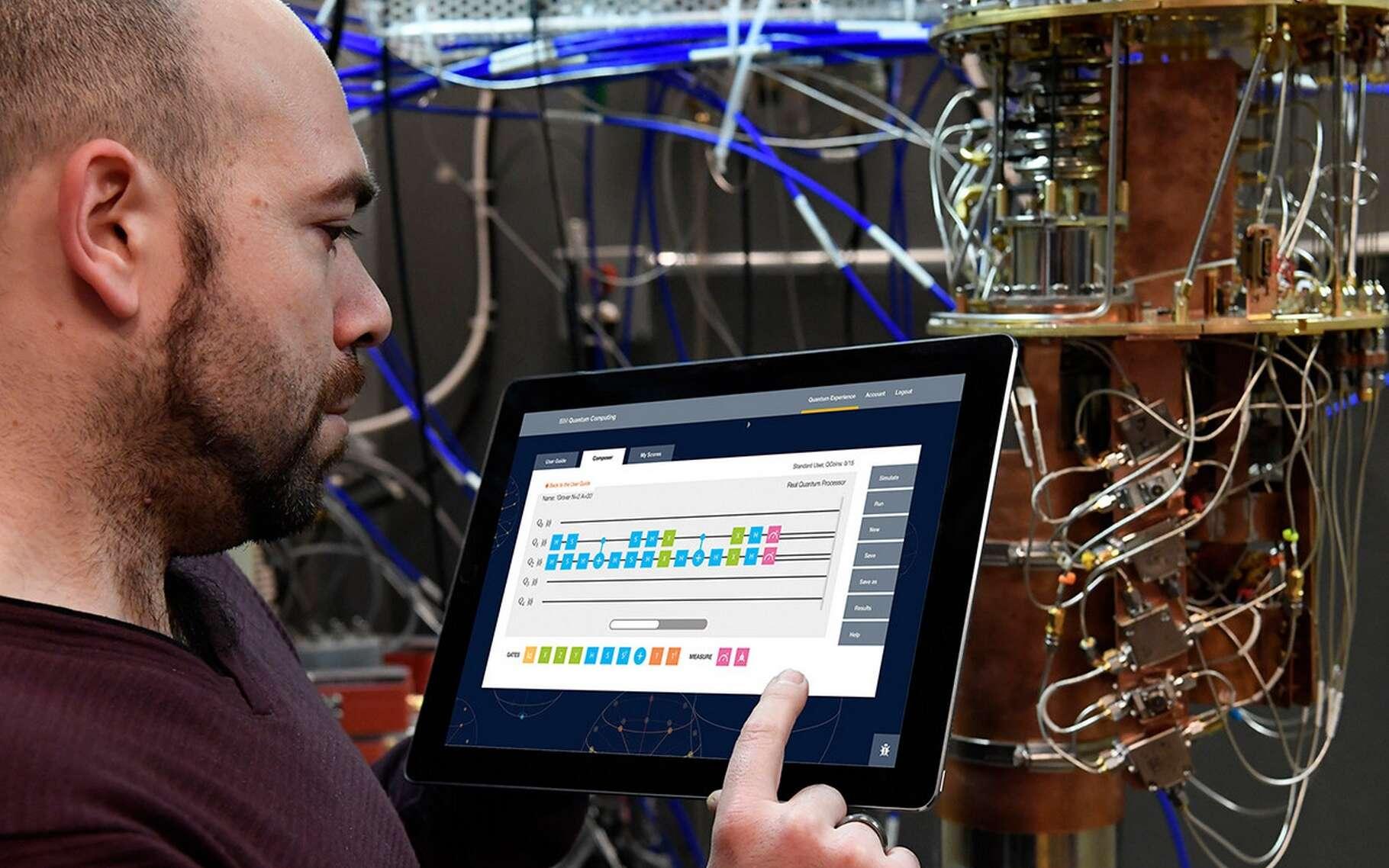 En créant une plateforme en ligne d'accès à l'un de ses processeurs quantiques, IBM espère à la fois faire découvrir cette technologie mais aussi progresser dans la découverte de nouvelles applications grâce aux contributions extérieures. © IBM Research