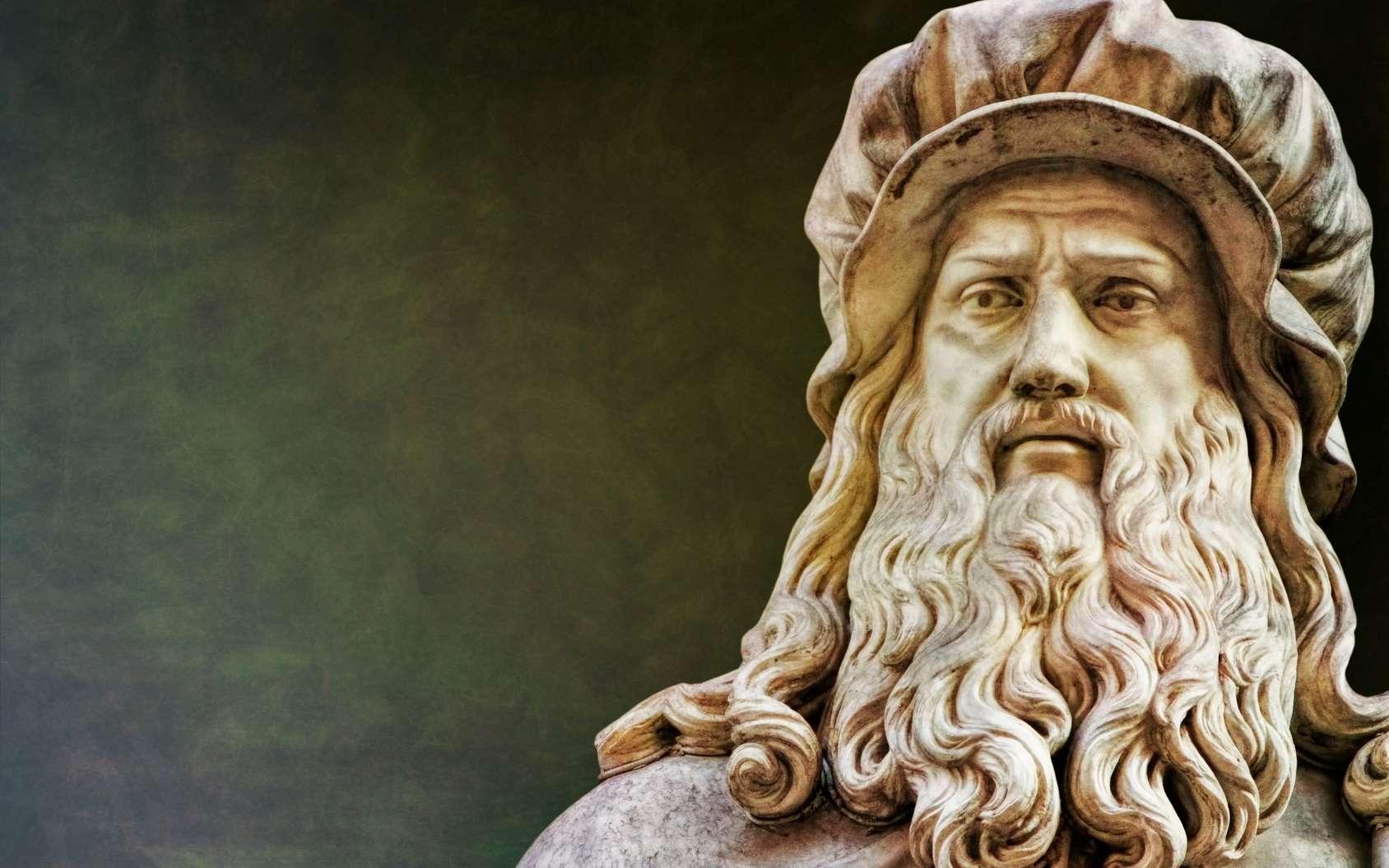 Sculpture de Léonard de Vinci à Florence. © ArTo, fotolia