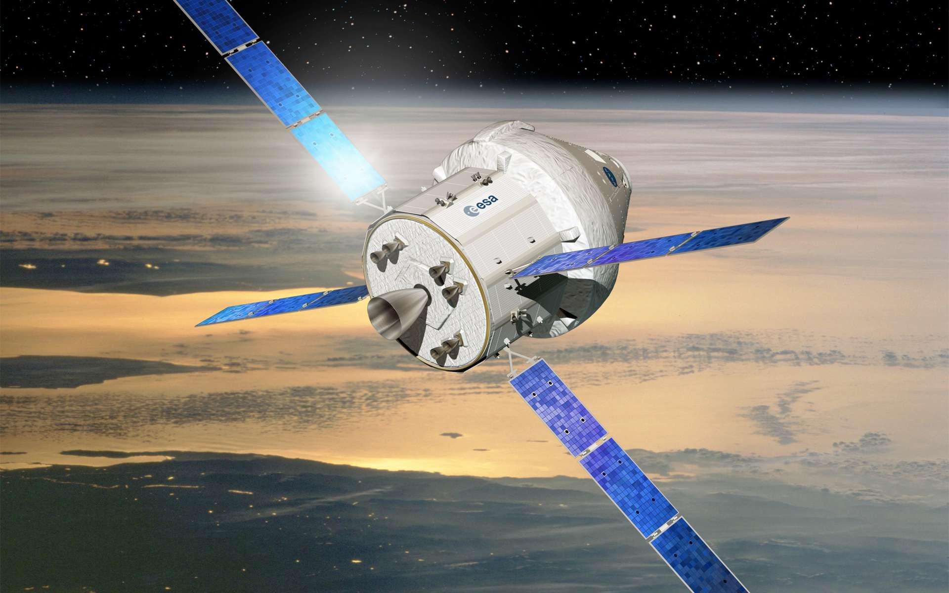 Le futur vaisseau Orion-MPCV (Multi-Purpose Crew Vehicle, Véhicule habité multirôle) sera capable de transporter un équipage de 2 à 6 personnes pour des missions variées, y compris au-delà de l'orbite terrestre. Il a été étudié primitivement dans le cadre du programme Constellation de retour sur la Lune et il est en cours de développement. des essais sous parachute ont déjà été réalisés. © Esa, D. Ducros