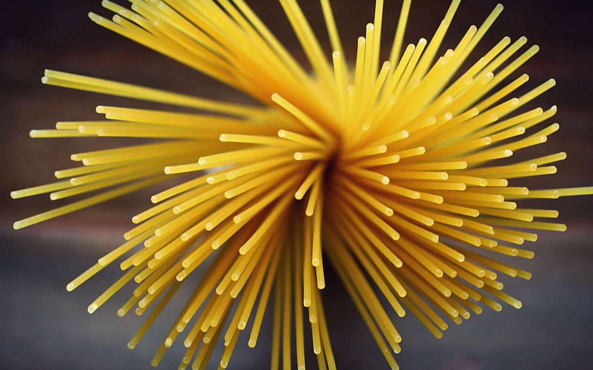 Il a fallu des heures de travail pour trouver la technique infaillible pour casser un spaghetti en seulement deux morceaux. © Pixabay