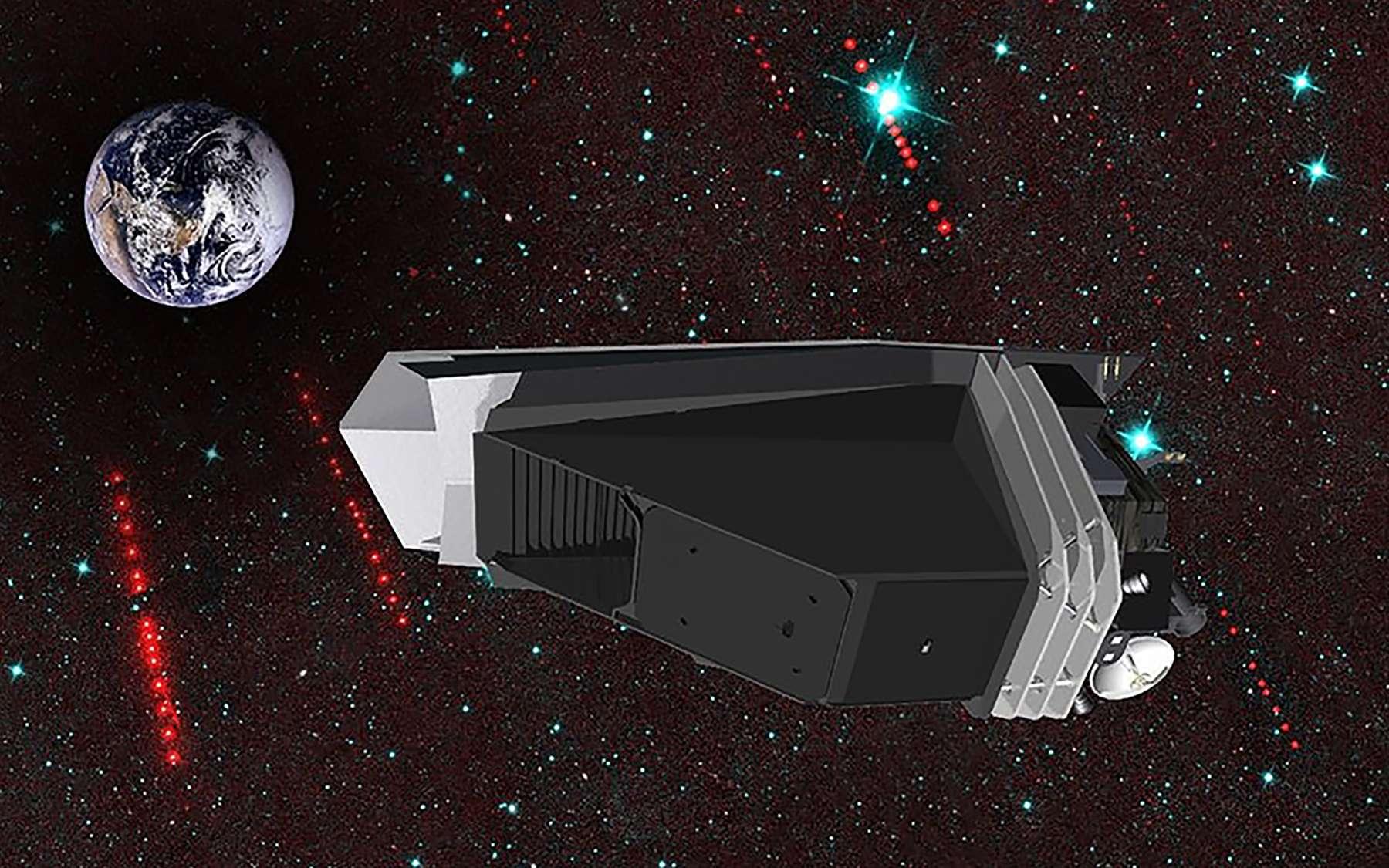 Vue d'artiste du satellite NEOcam de la Nasa. © Nasa, JPL-Caltech