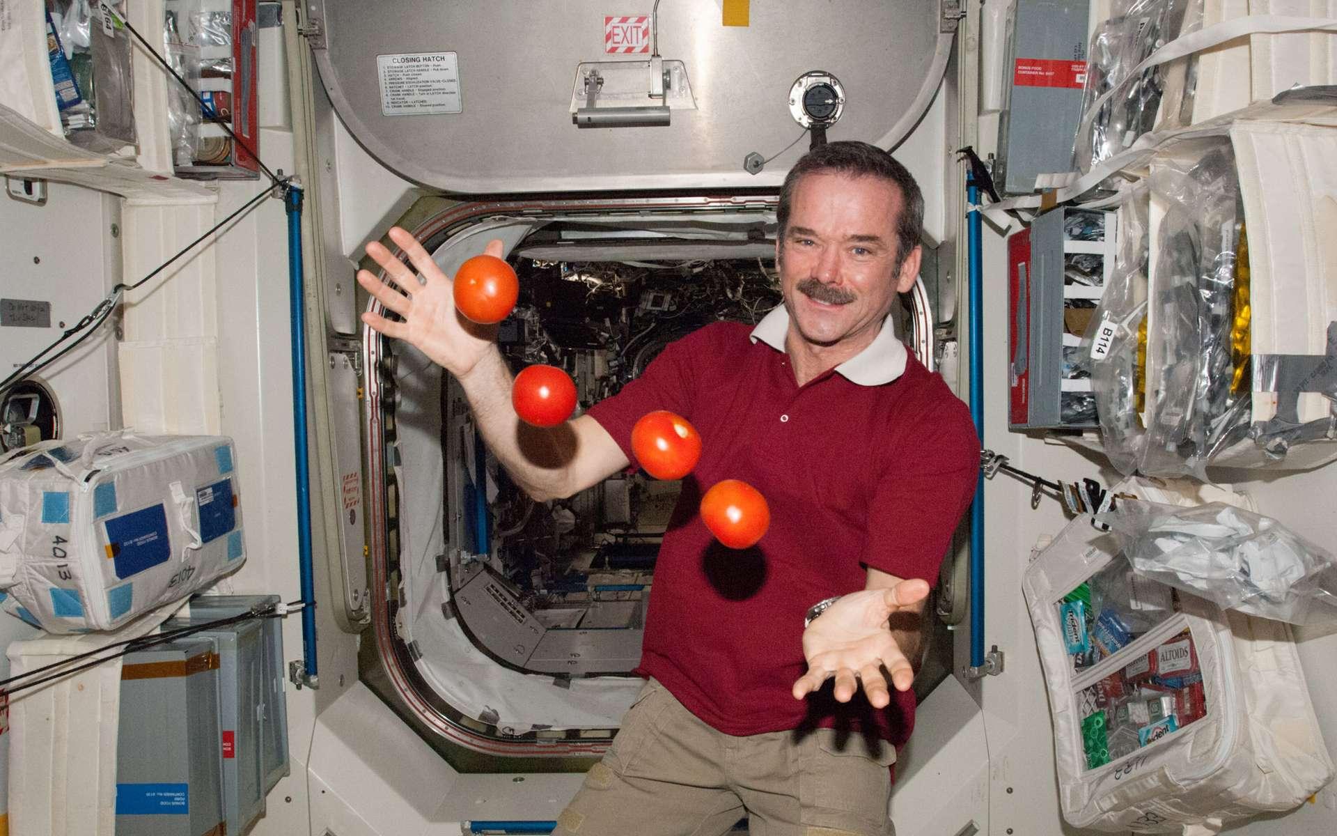 L'astronaute Chris Hadfield est devenu le premier Canadien commandant de la Station spatiale internationale. Il assume cette fonction depuis le 13 mars, et cela sera le cas jusqu'à son départ de l'ISS, en mai 2013. © Nasa