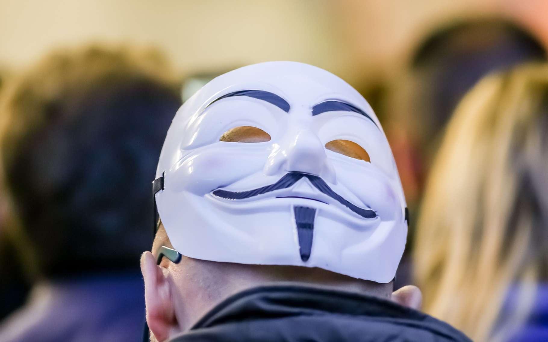 Lorsque les Anonymous descendent dans les rues, ils portent volontiers un masque de Guy Fawkes, le conspirateur britannique popularisé par le livre et le film V pour Vendetta. © Benny Marty, Shutterstock